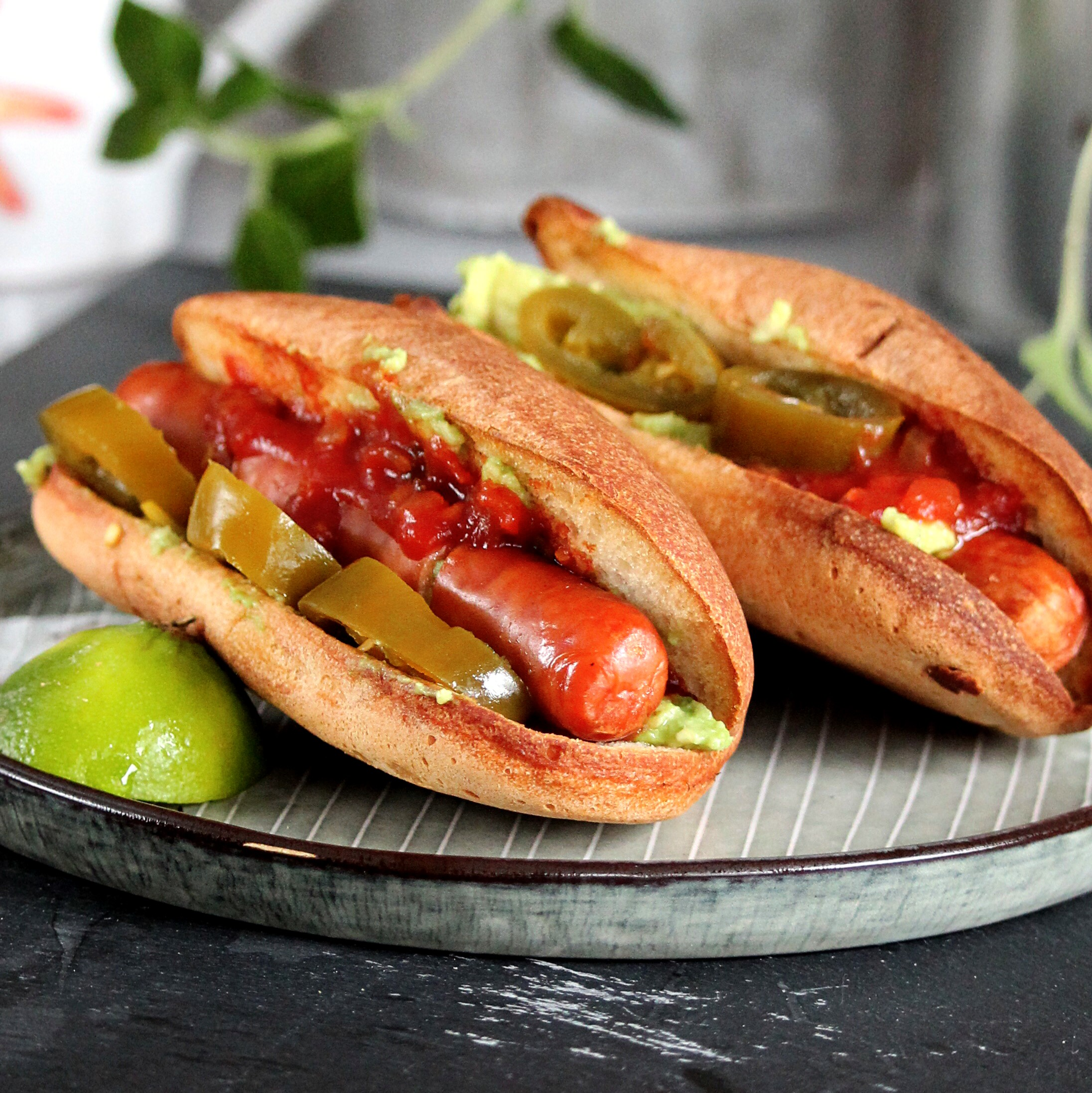 """Hot dogs cooked in an air fryer inside their buns, then topped with taco fixings, will redefine Taco Tuesday,"" says Buckwheat Queen. ""The air fryer renders the hot dogs crispy on the outside and juicy on the inside."""