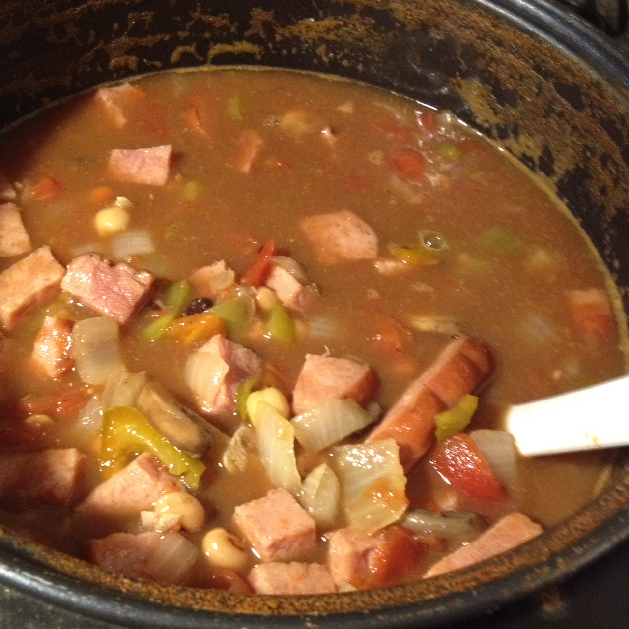 Slow Cooker Ham and Bean Stew Angela