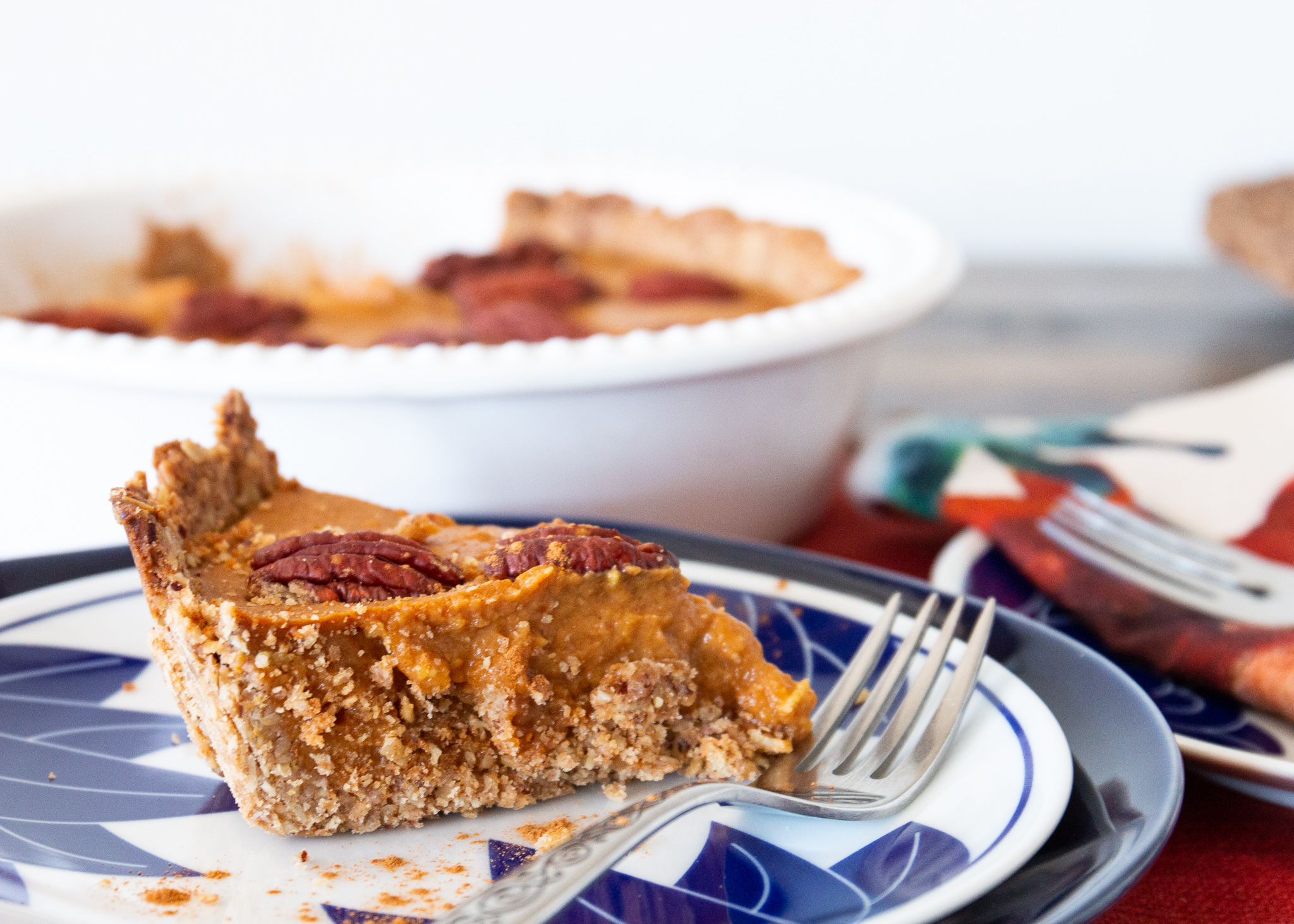 Pumpkin Tart With Pecan Crust