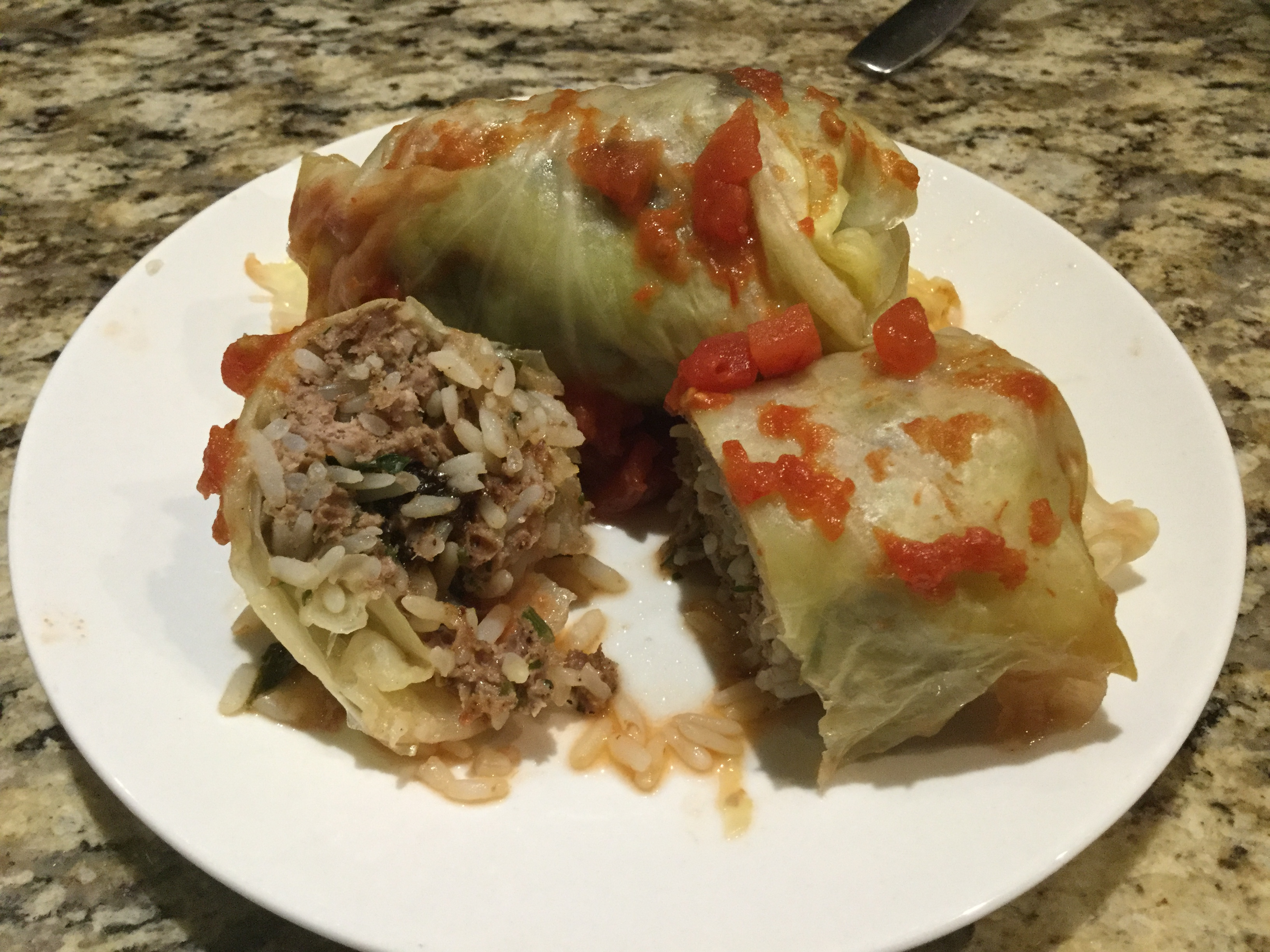 Lamb and Rice Stuffed Cabbage Rolls sonia