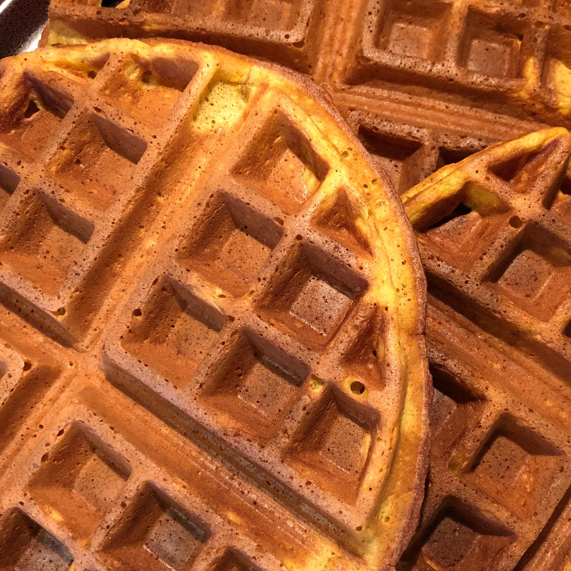 Perfect Pumpkin Spice Waffles