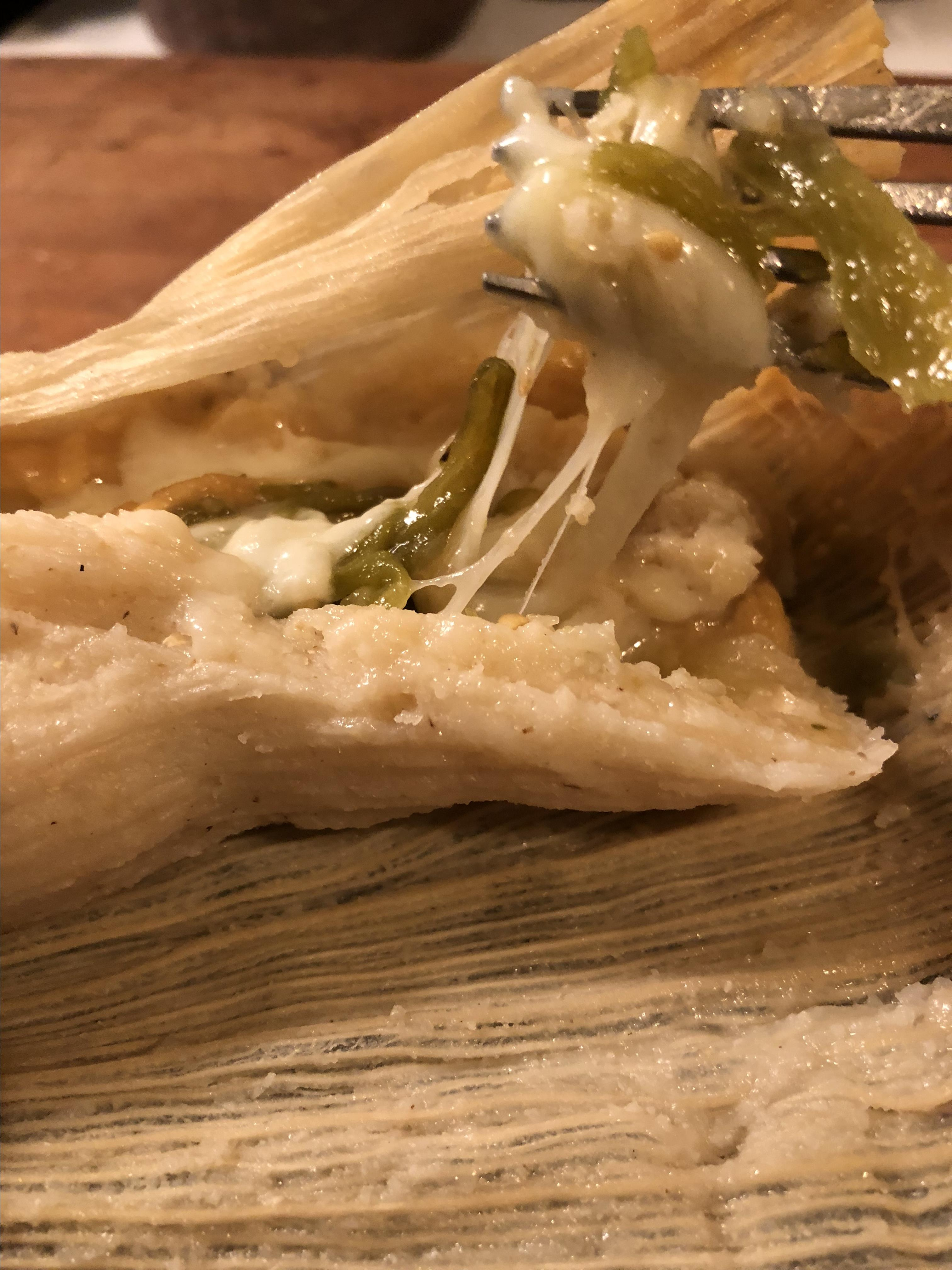Poblano and Cheese Tamales (Tamales de Rajas con Queso) Pam