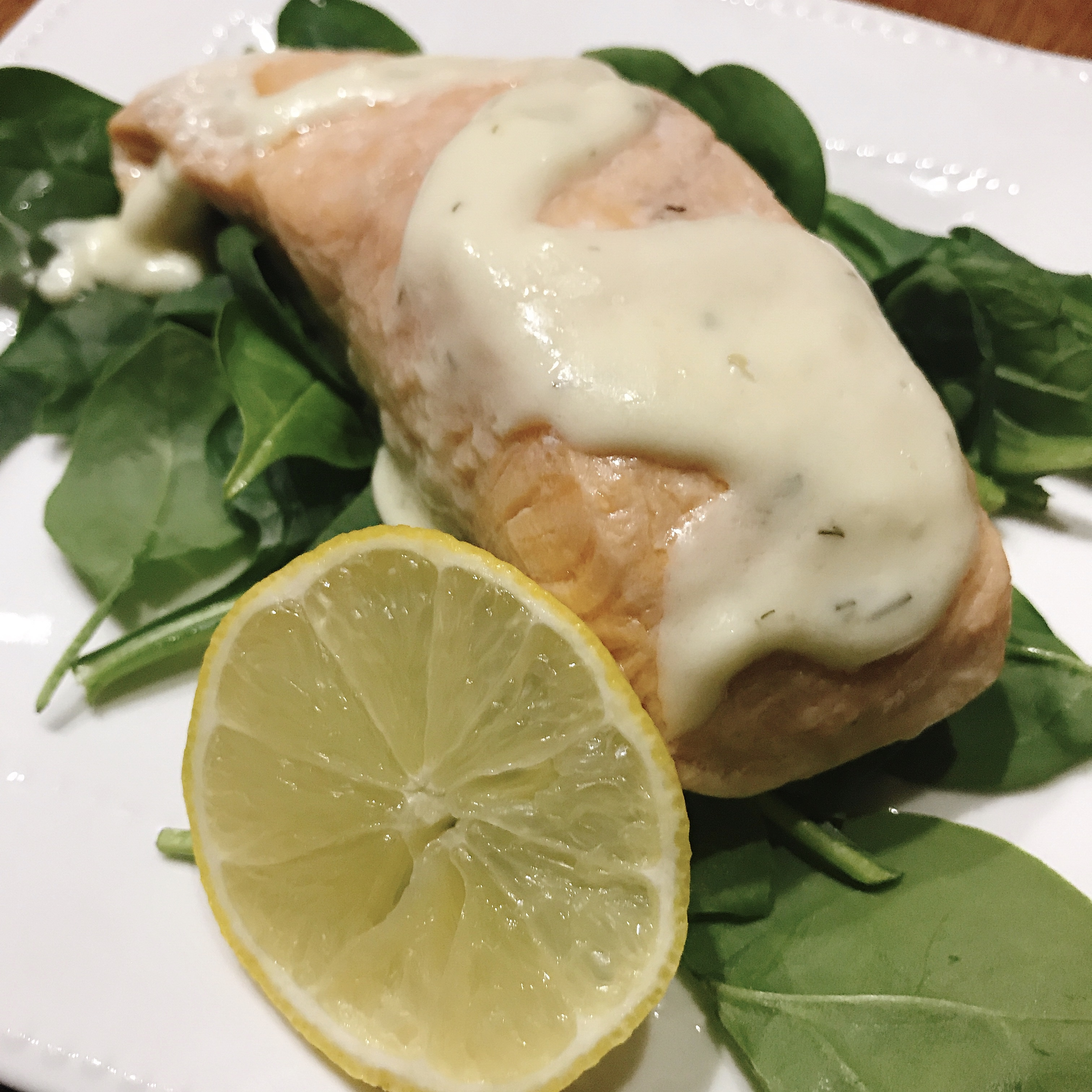 """The salmon can be cooked any way you prefer, because the star of this recipe is the lemon cream sauce made with Meyer lemon,"" says thedailygourmet."