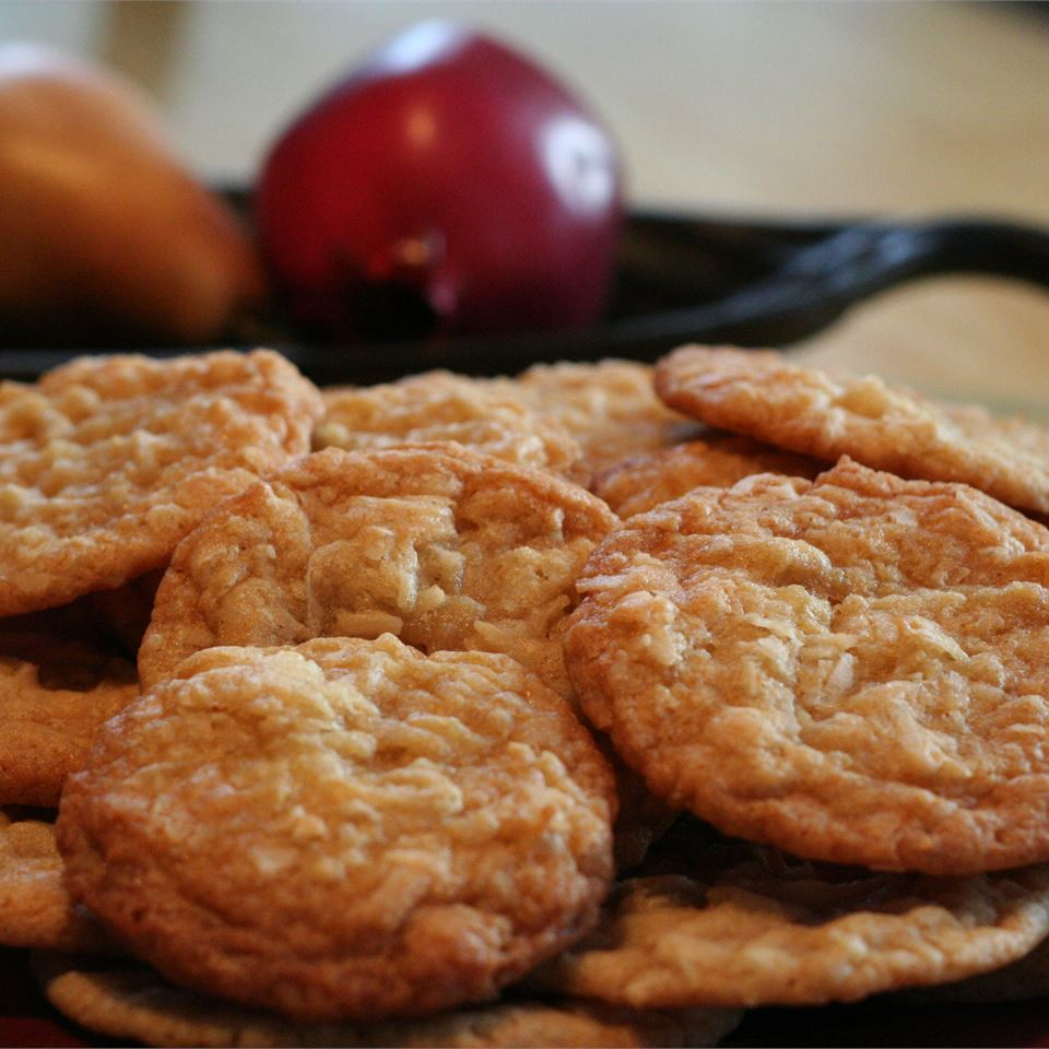 These nutty and fruity cookies are perfectly chewy and soft. Add in flaked coconut for that great texture and flavor. They are done in under an hour too!