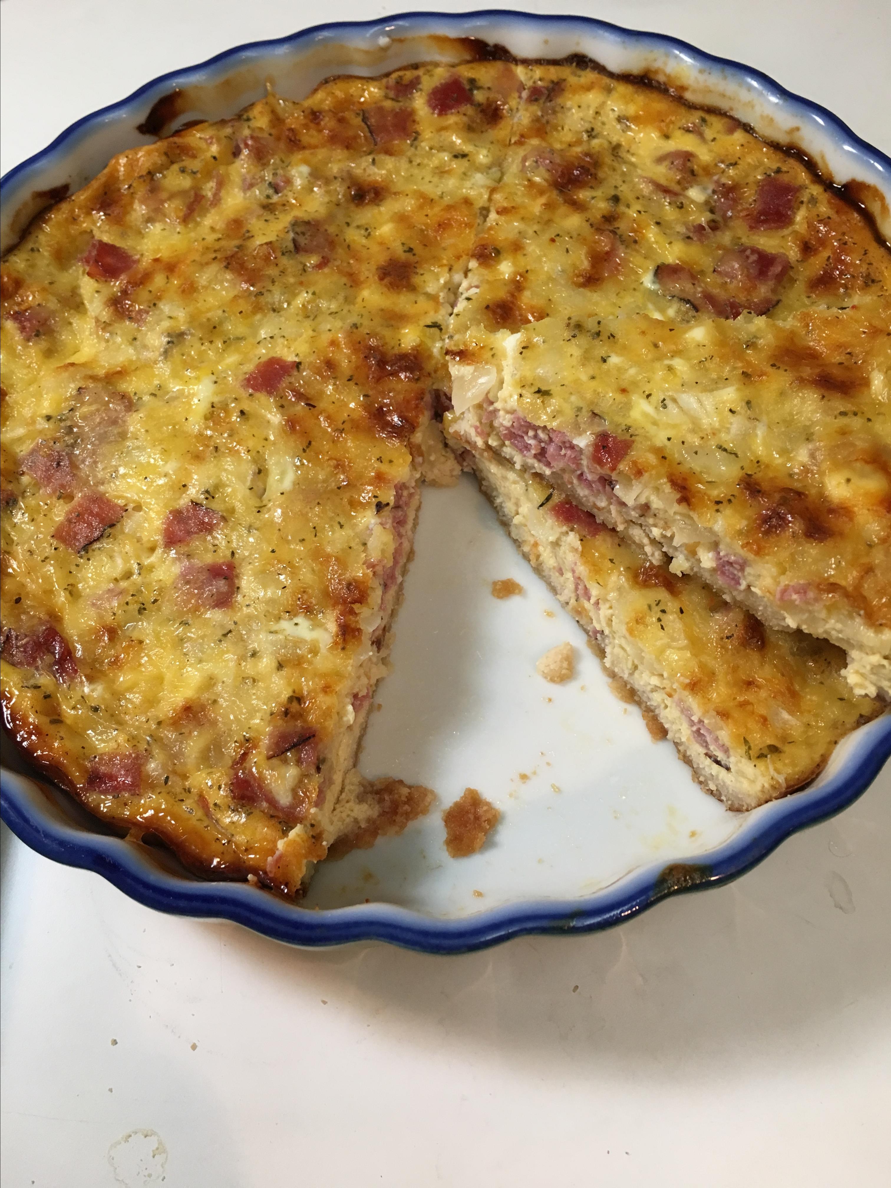 Low Carb and Gluten Free Quiche Lorraine PRESSEDFORTIME