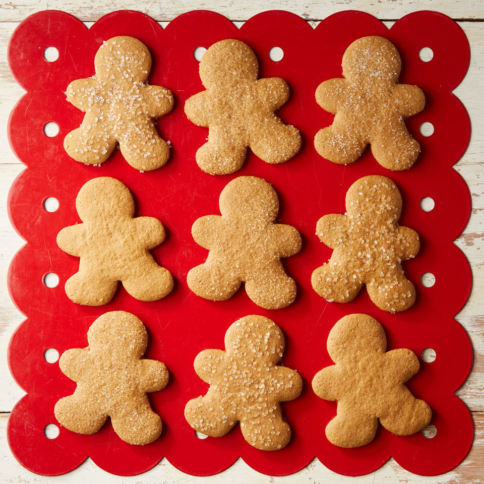 Gluten-free flour stands in for regular flour in these crisp, festive cut-out cookies that taste amazing. To decorate, dust cookies with sanding sugar before you bake them or drizzle and pipe on royal icing once they've cooled.