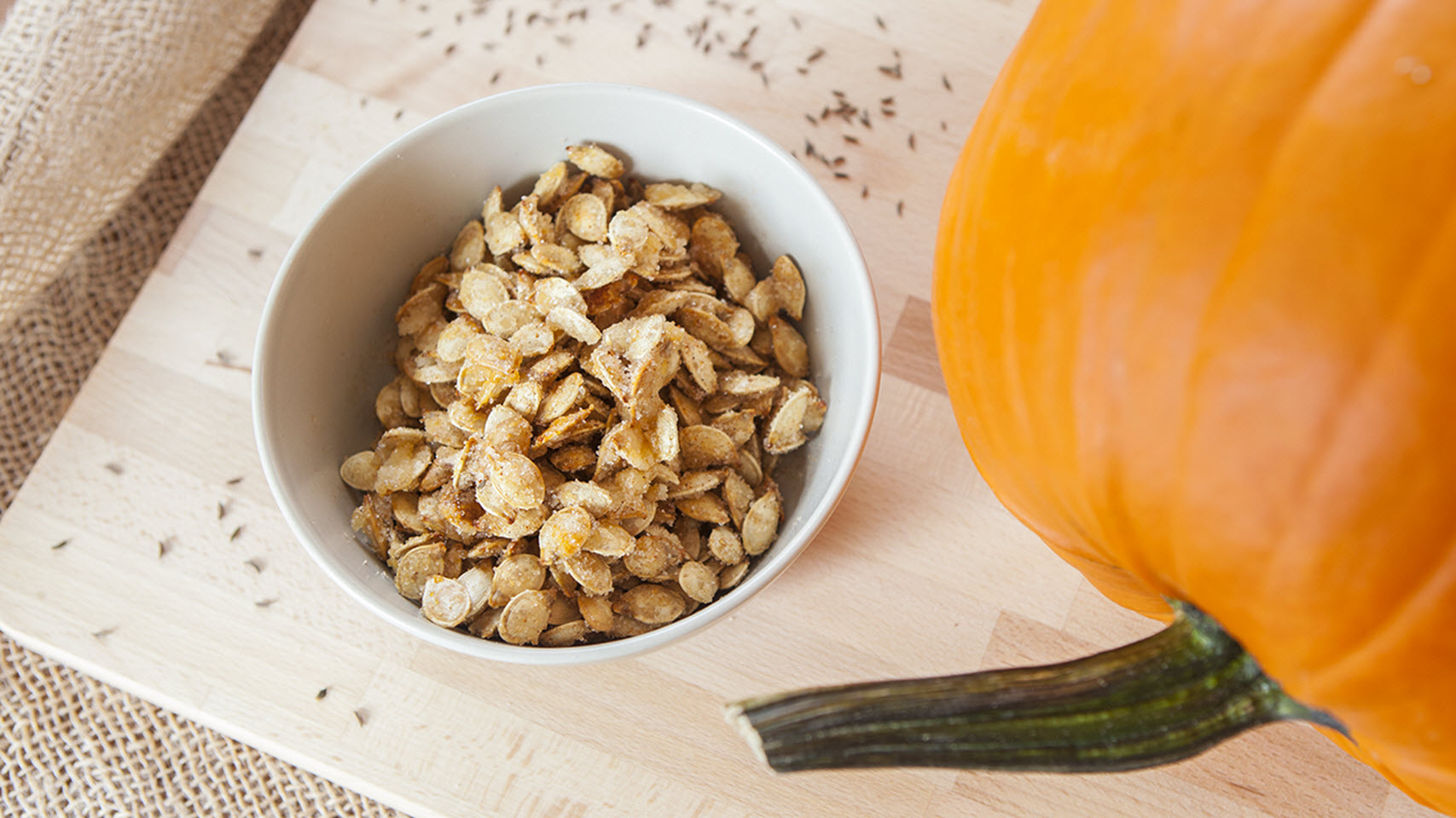 Caramelized Spicy Pumpkin Seeds