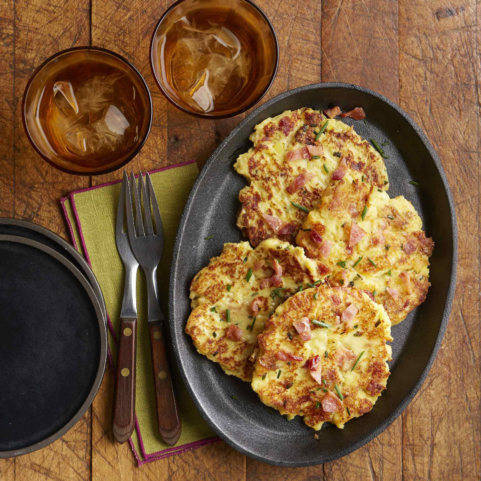 Loaded Mashed Potato Pancakes Hilary Meyer