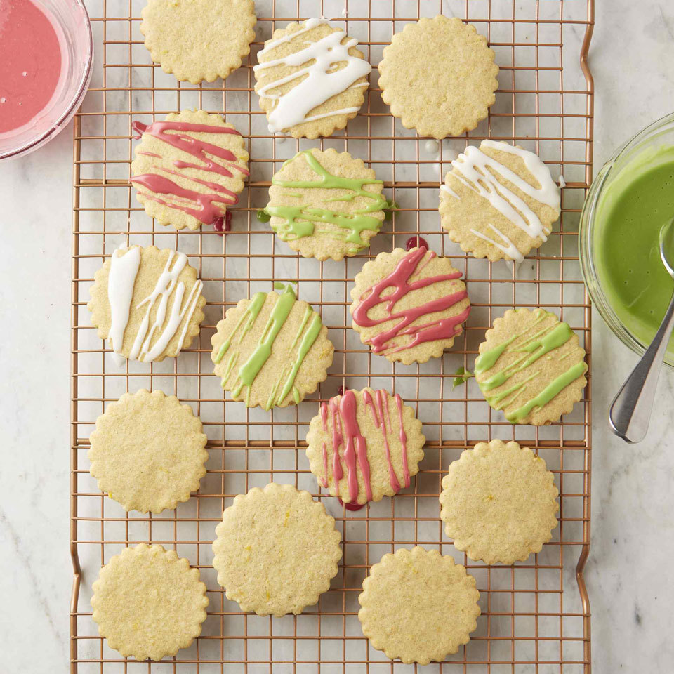 It's hard to imagine a classic buttery sugar cookie without the butter, but trust us, it's possible. Here, we use coconut oil instead of butter for dairy-free eggless cut-out cookies that taste delicious and are fun to make and eat. Decorate with a citrus glaze colored with a little food dye, sprinkles and/or sanding sugar as you wish. Source: EatingWell.com, October 2018