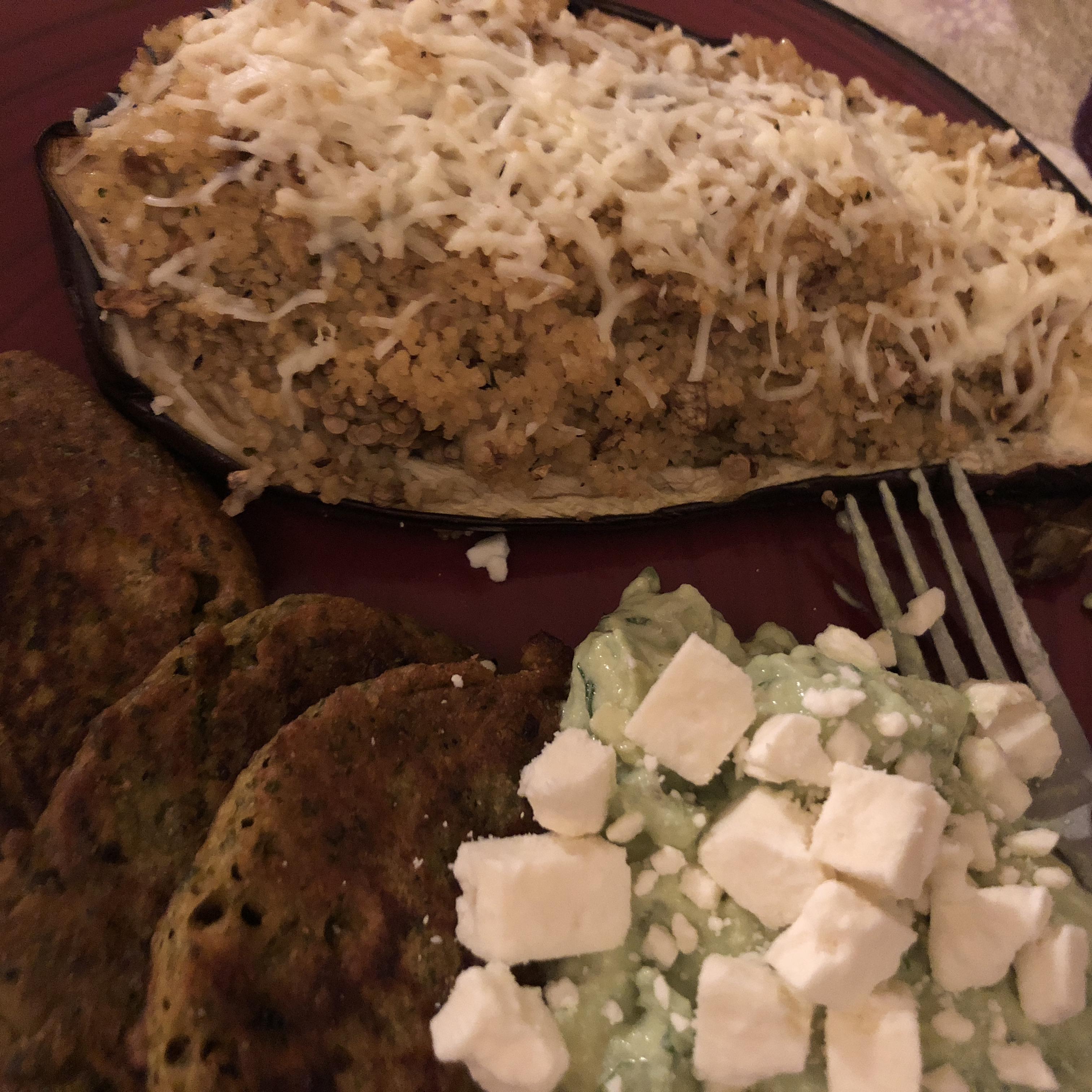 Stuffed Eggplant with Israeli Couscous Ida McCord