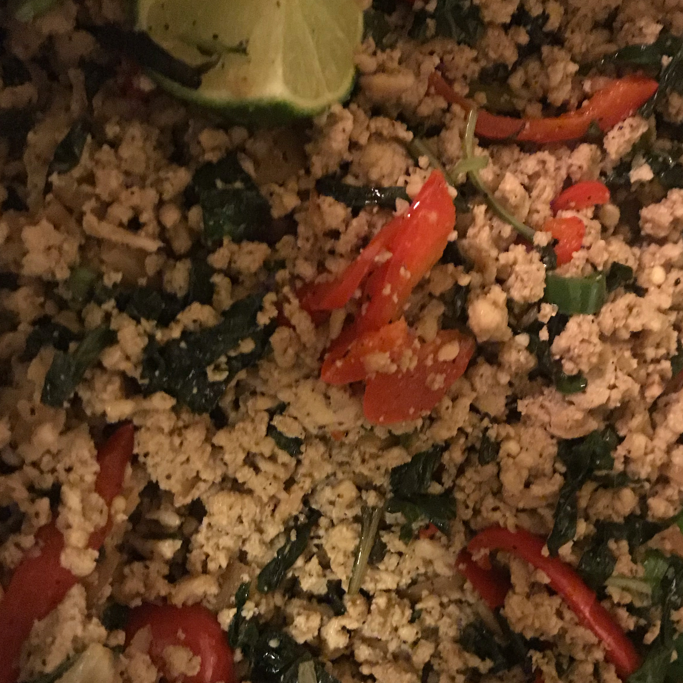 Thai Spicy Basil Chicken Fried Rice April