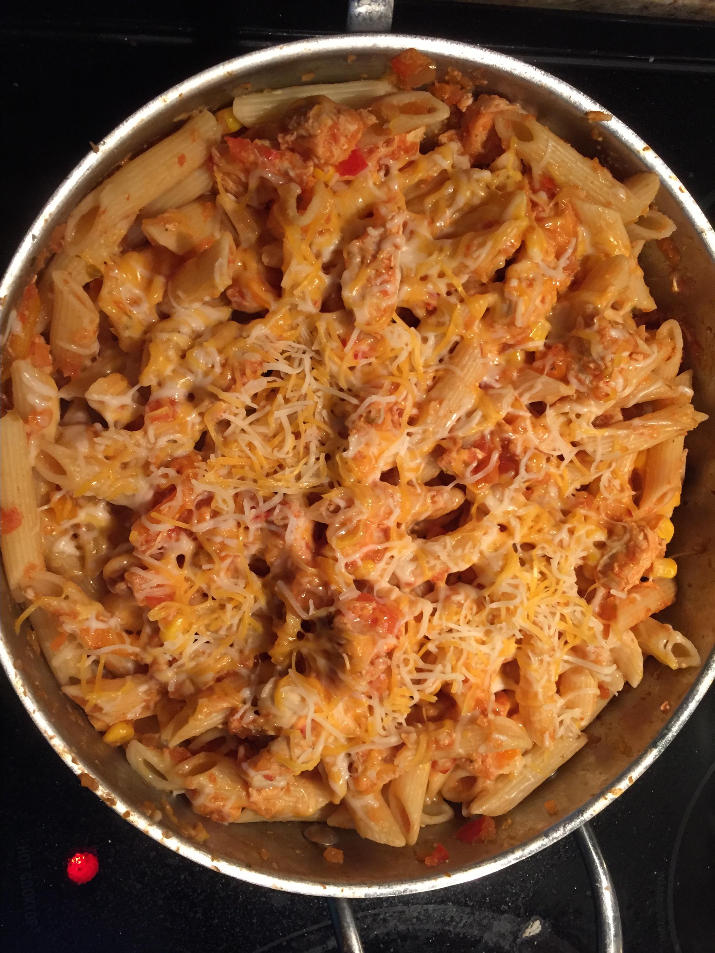 Cheesy Tex Mex Chicken Penne BSNYDER07@HOTMAIL.COM