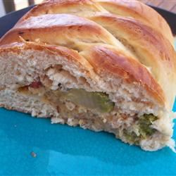 Chicken and Broccoli Braid Kelly Grimes