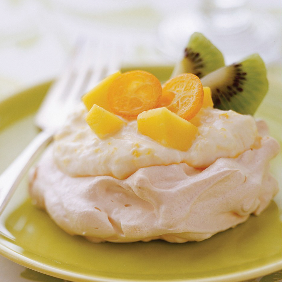 Tropical Fruit Pavlova with Mango Cream Allrecipes Trusted Brands