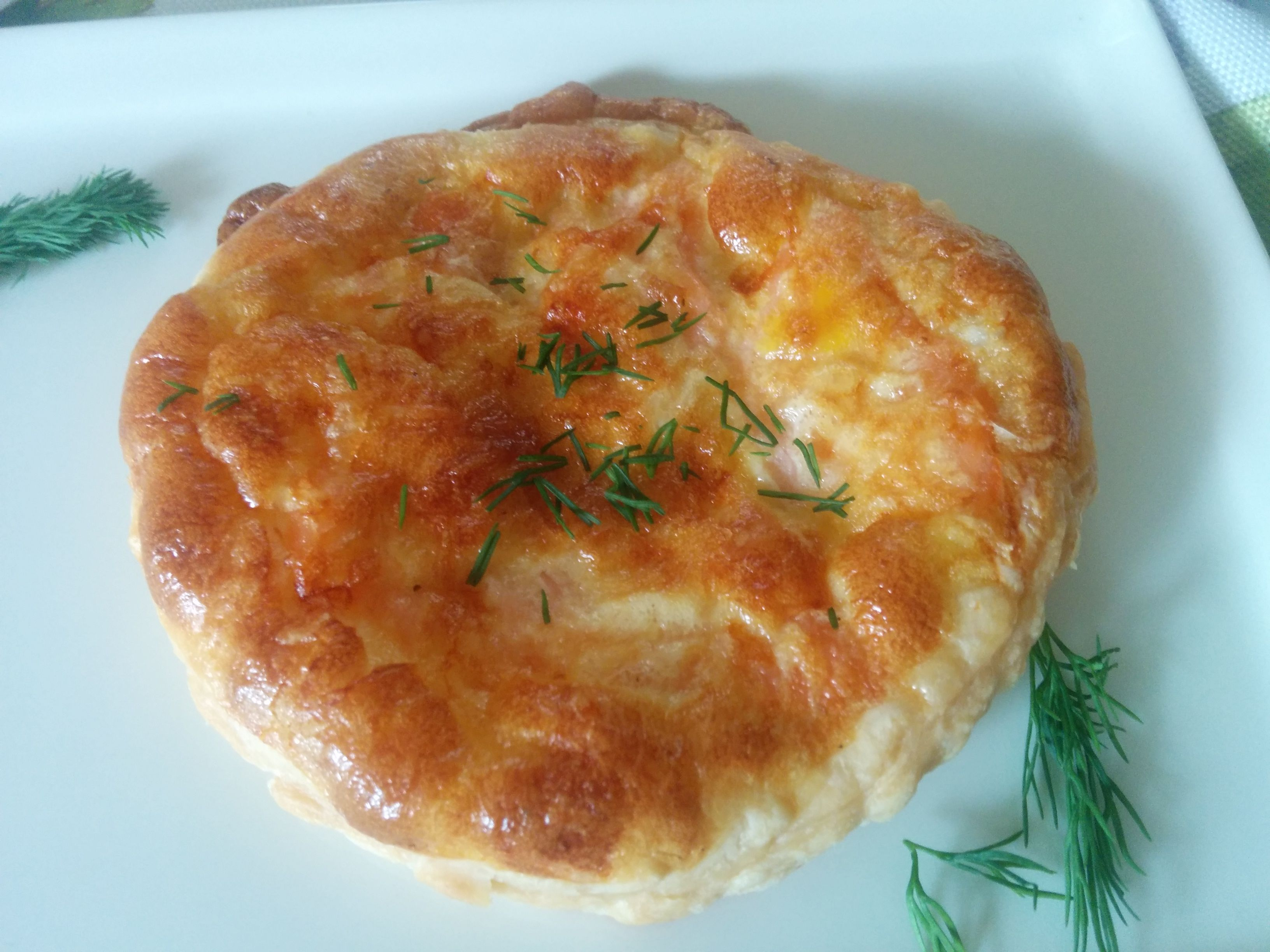 Savory Puff Pastry Tart with Smoked Salmon