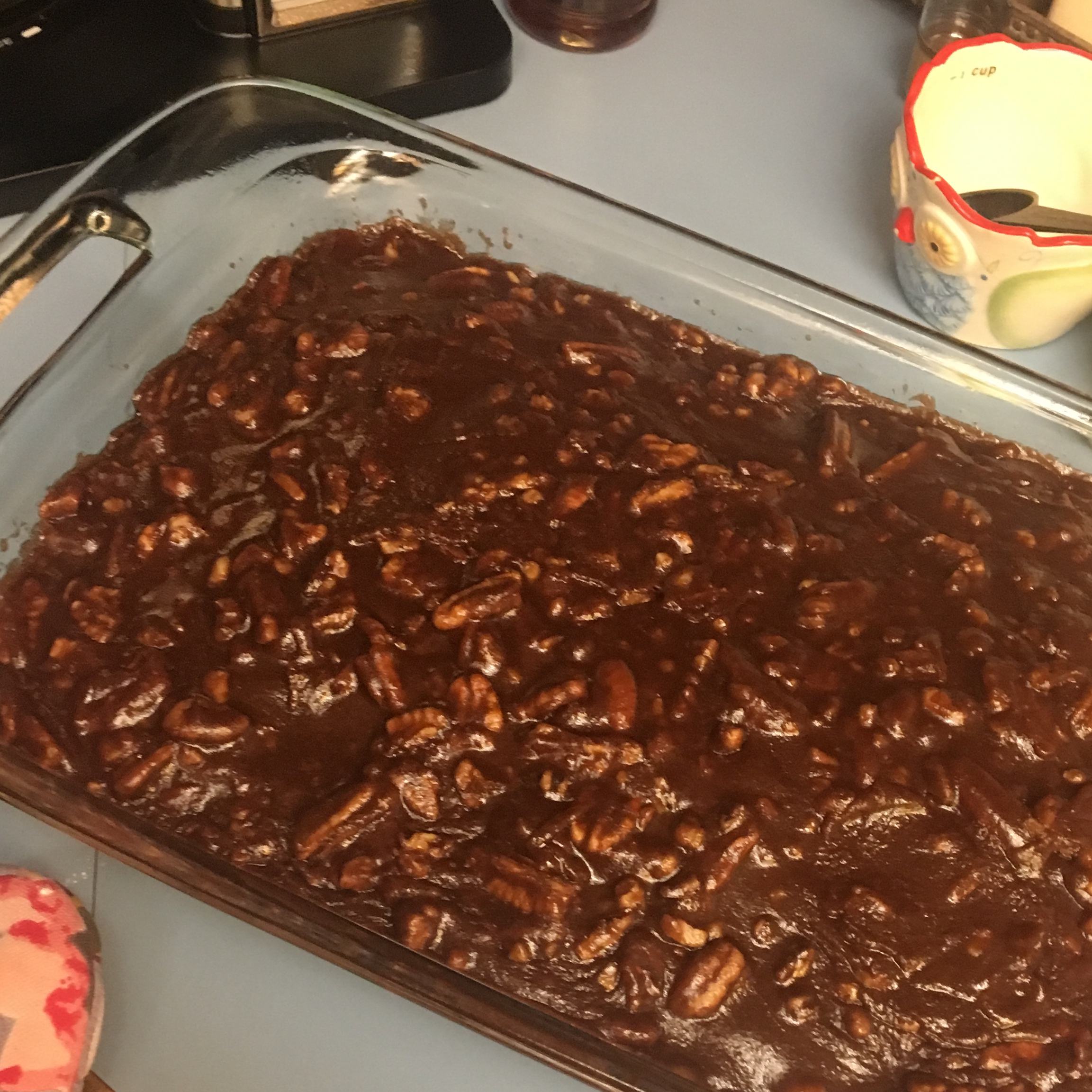 Old Southern Chocolate Pecan Sheet Cake