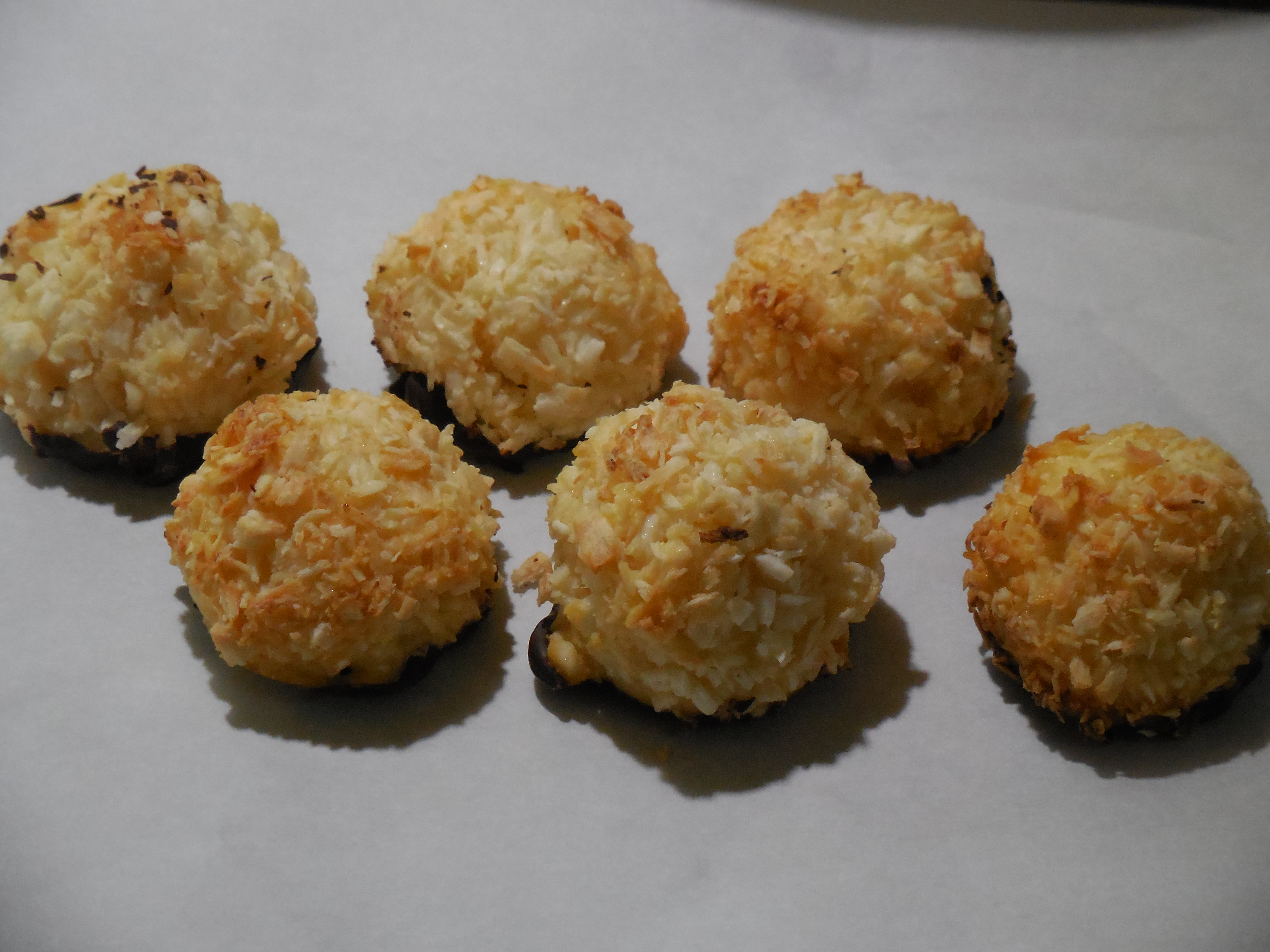 Chocolate-Dipped Coconut Macaroons