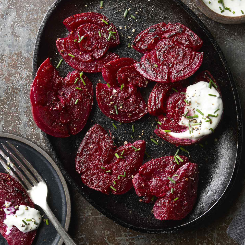 Crispy Smashed Beets with Goat Cheese Trusted Brands