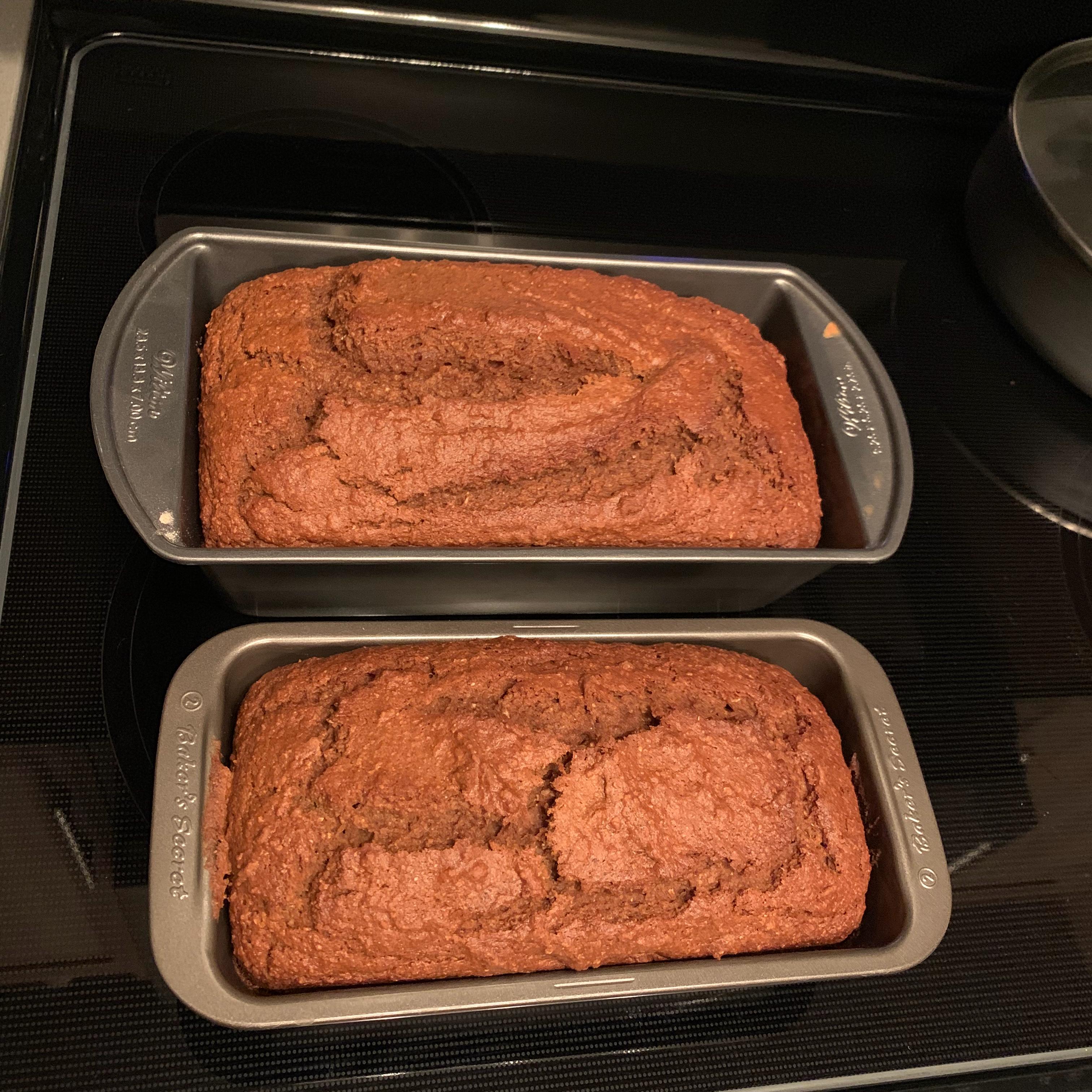 Applesauce Pumpkin Spice Bread