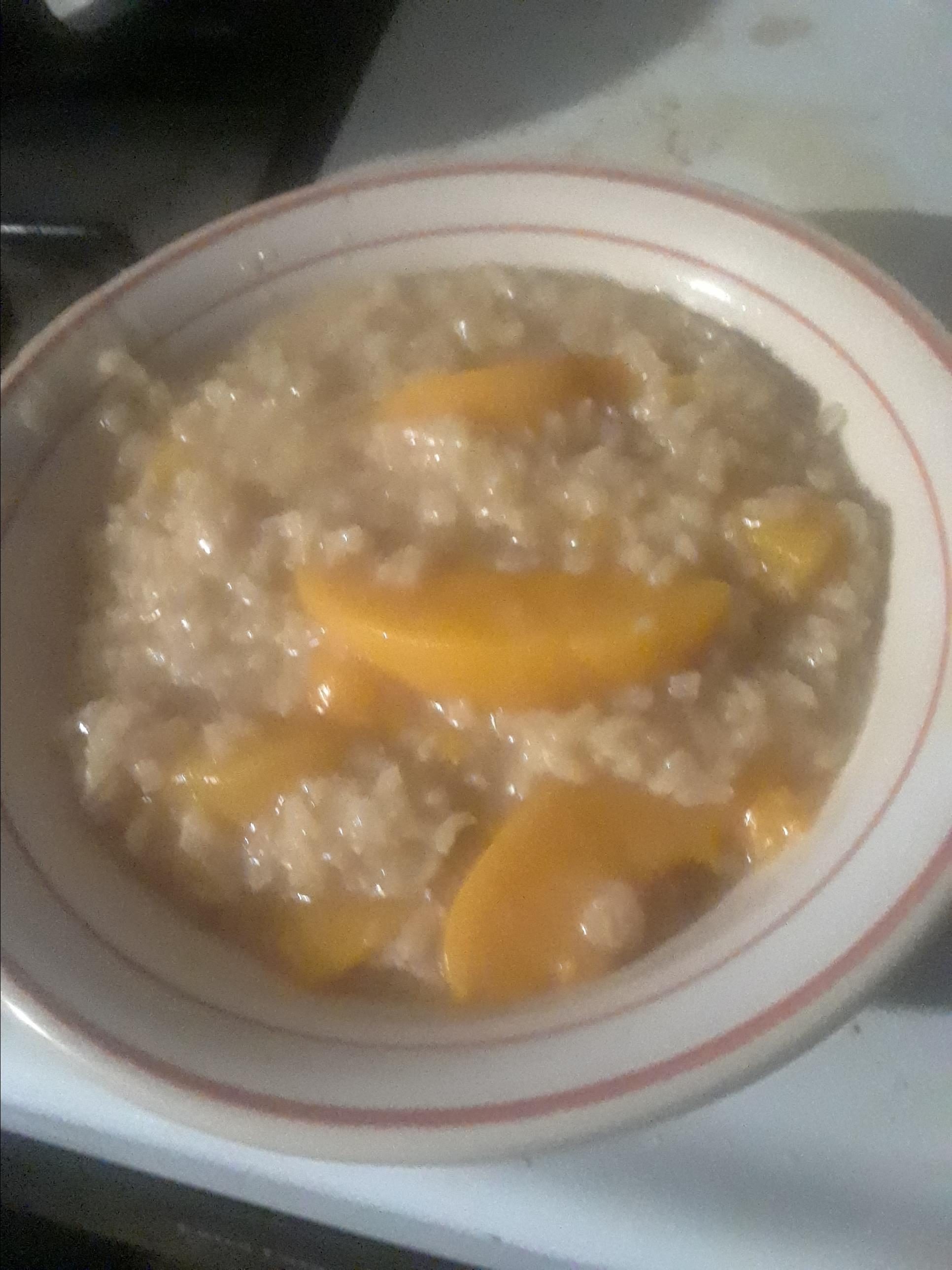Brown Rice Pudding with Peaches