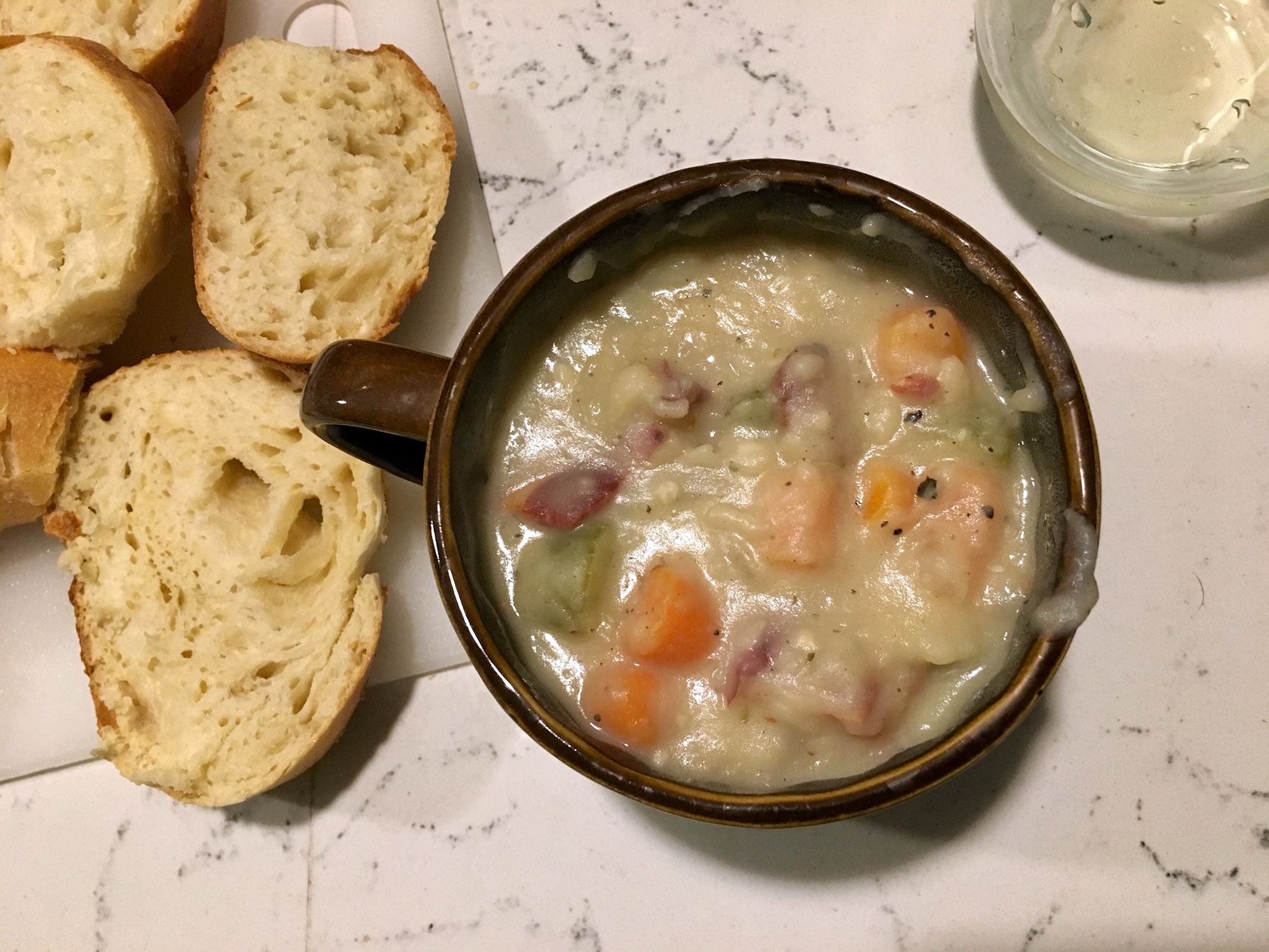 Dairy-Free Creamy Potato Soup with Bacon