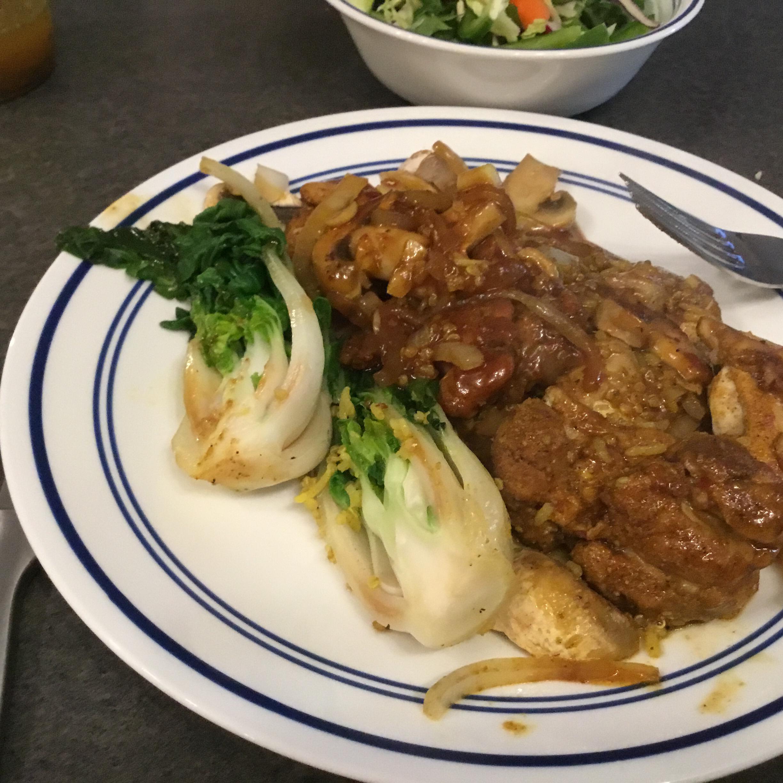 Chinese-Style Baby Bok Choy with Mushroom Sauce MsDee55