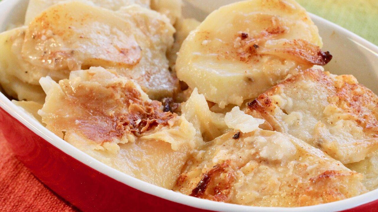Creamy and Crispy Scalloped Potatoes