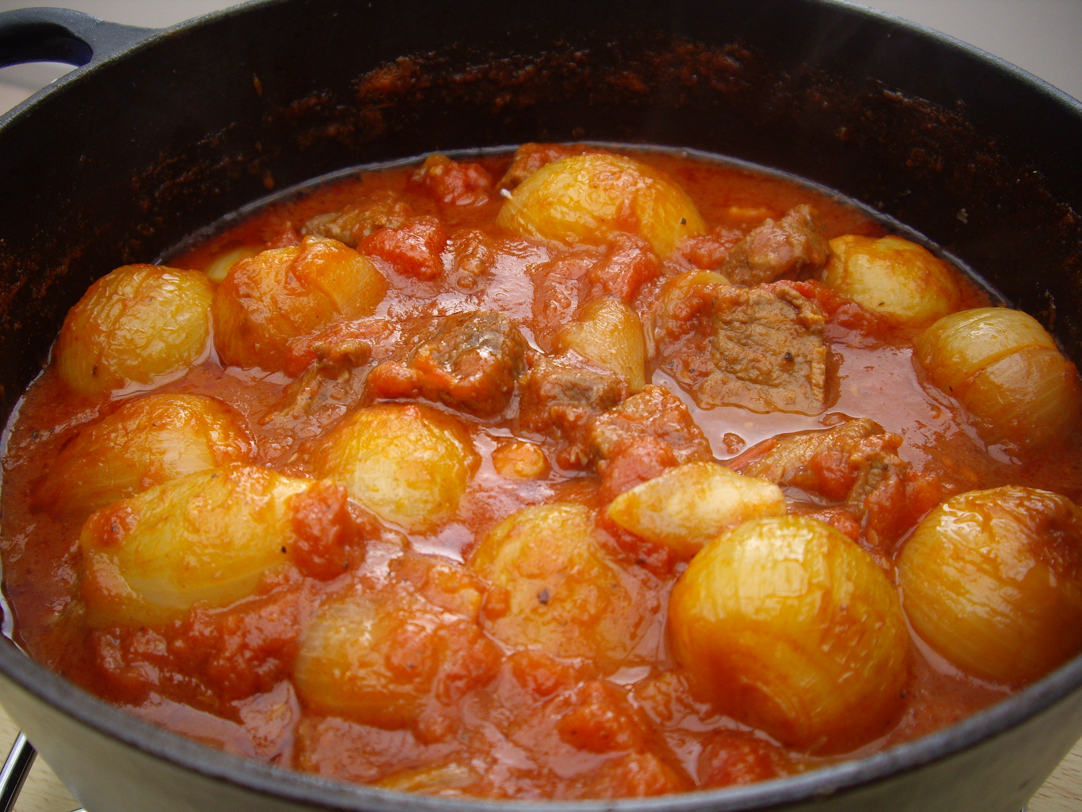 Beef Stifado in the Slow Cooker