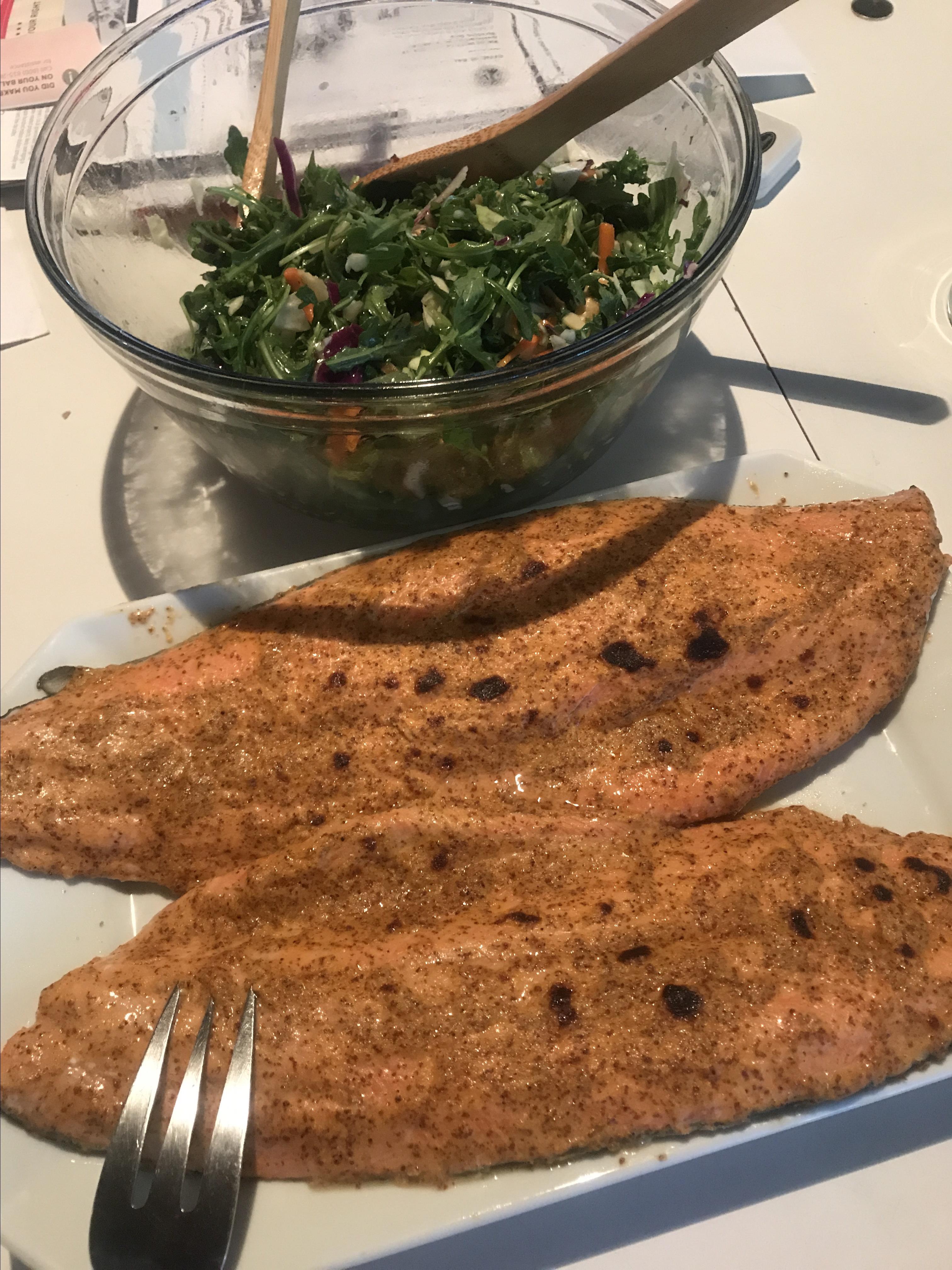 Easy Mustard-Glazed Broiled Salmon Suzie Sakata