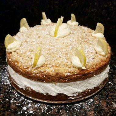 Awesome Italian Lemon Cream Cake Allrecipes Personalised Birthday Cards Beptaeletsinfo