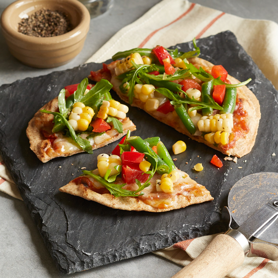 Using premade pizza crusts means this dinner can be on the table in just 30 minutes. The vegetable sauce is prepared on the stove and the pizzas are finished up quickly on the grill. Source: Diabetic Living Magazine