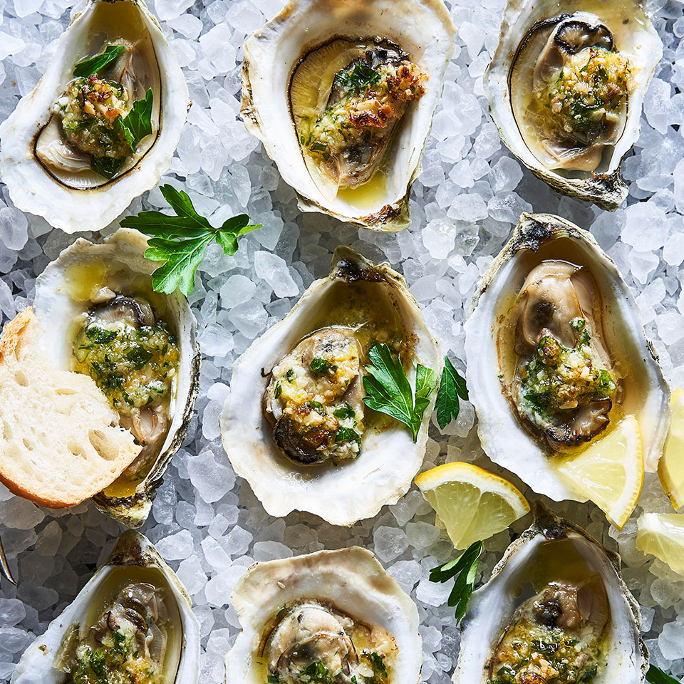 Broiled Oysters with Anchovy-Almond Butter Barton Seaver