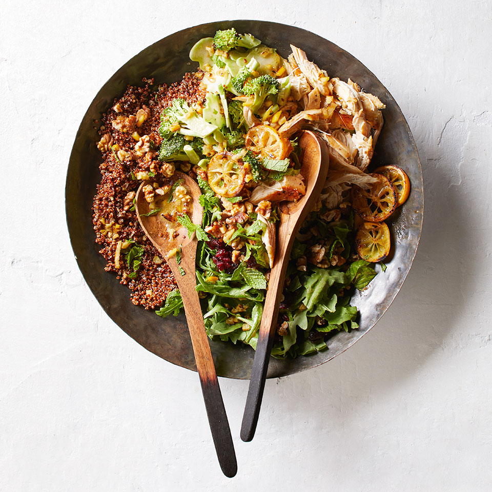 Quinoa, Chicken & Broccoli Salad with Roasted Lemon Dressing Julia Clancy