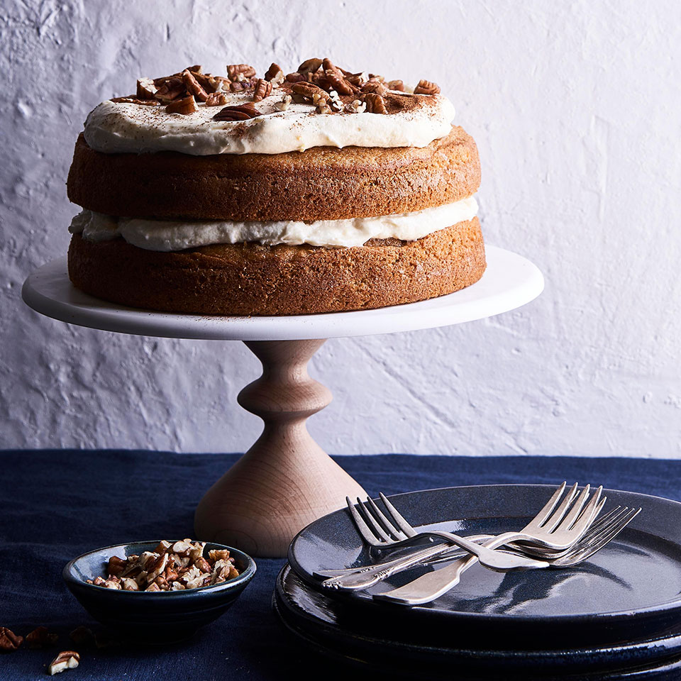 Sweet Potato Spice Cake with Orange-Cinnamon Cream Cheese Frosting Cheryl Slocum