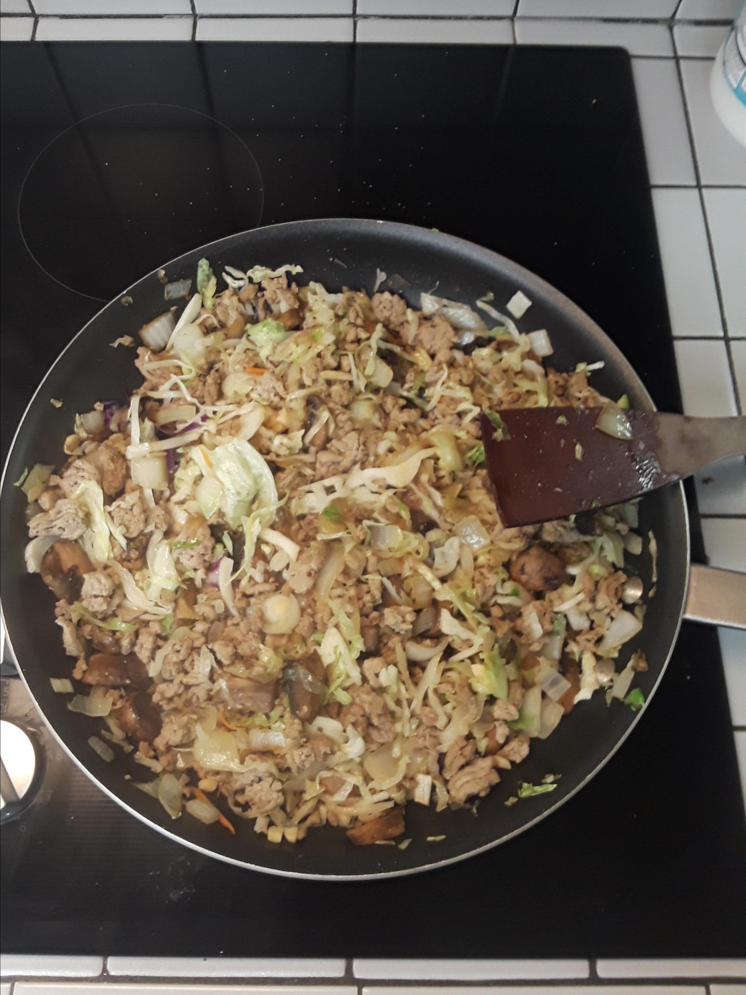 Keto Beef Egg Roll Slaw Lori Fry