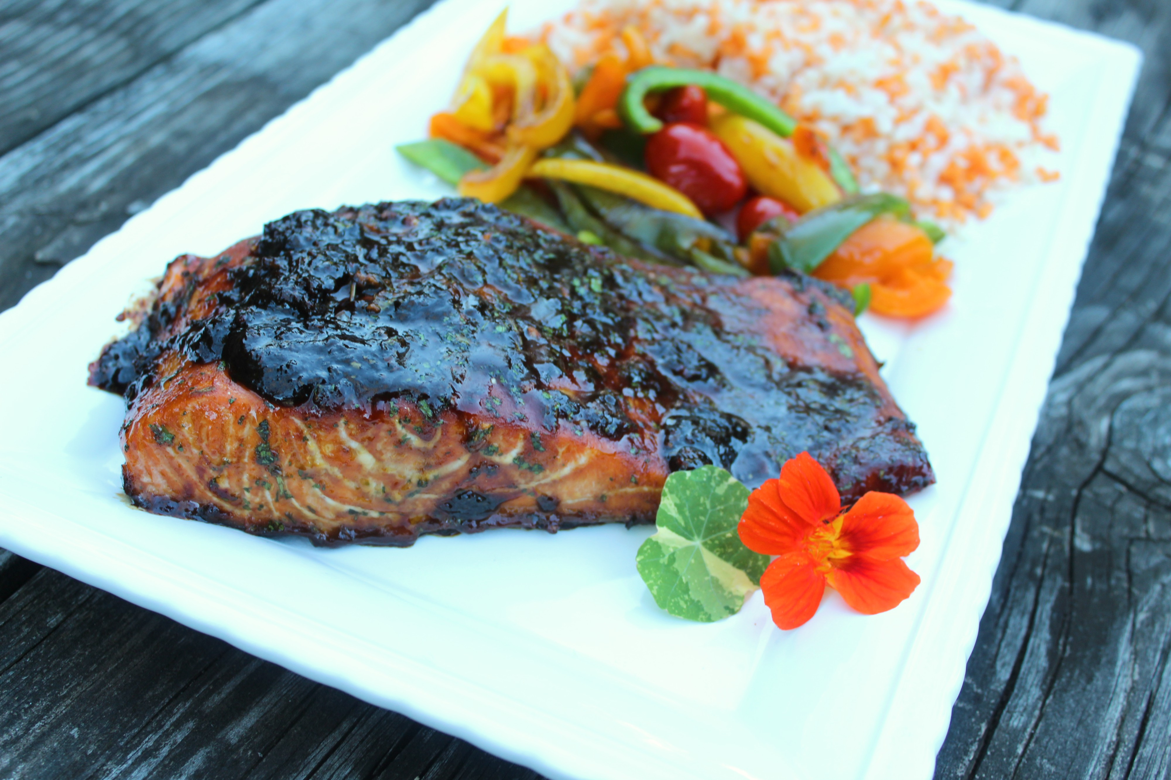 Firecracker Salmon with Spicy Molasses