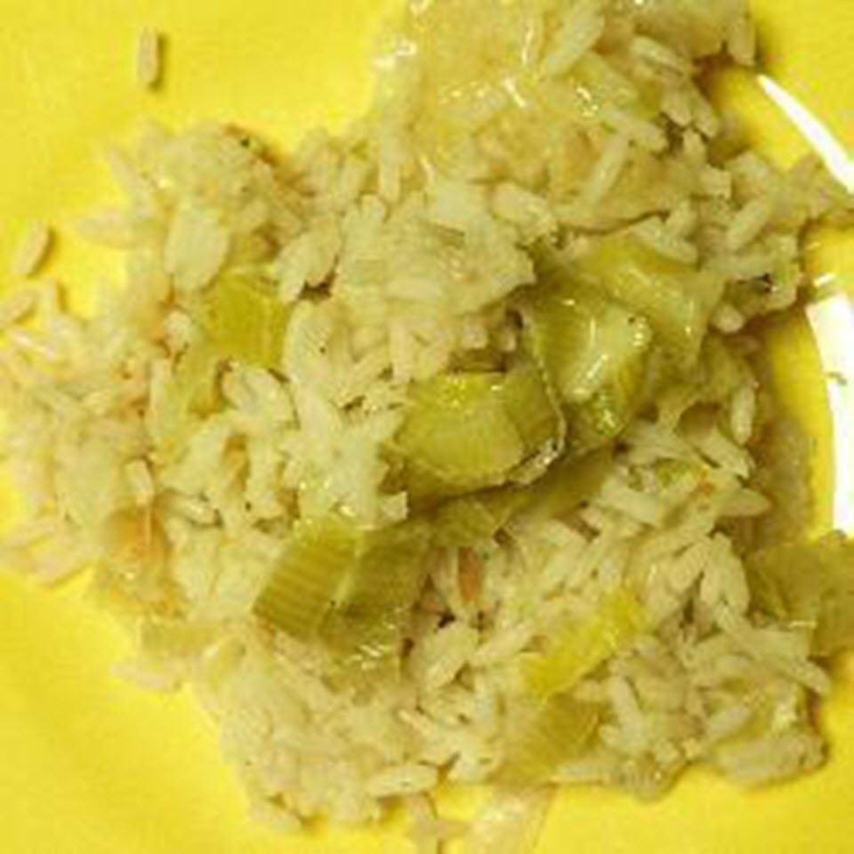 Swiss Rice and Leeks
