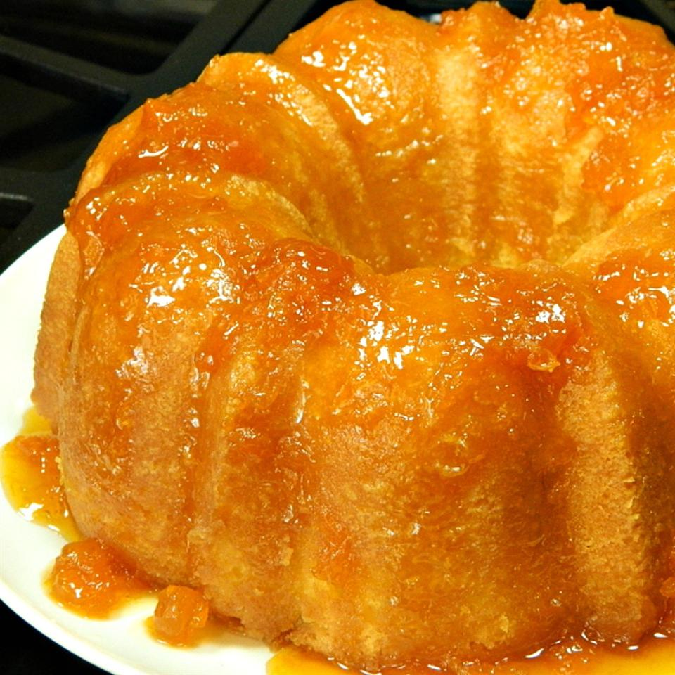 Apricot Brandy and Peach Schnapps Pound Cake Judy Cambell