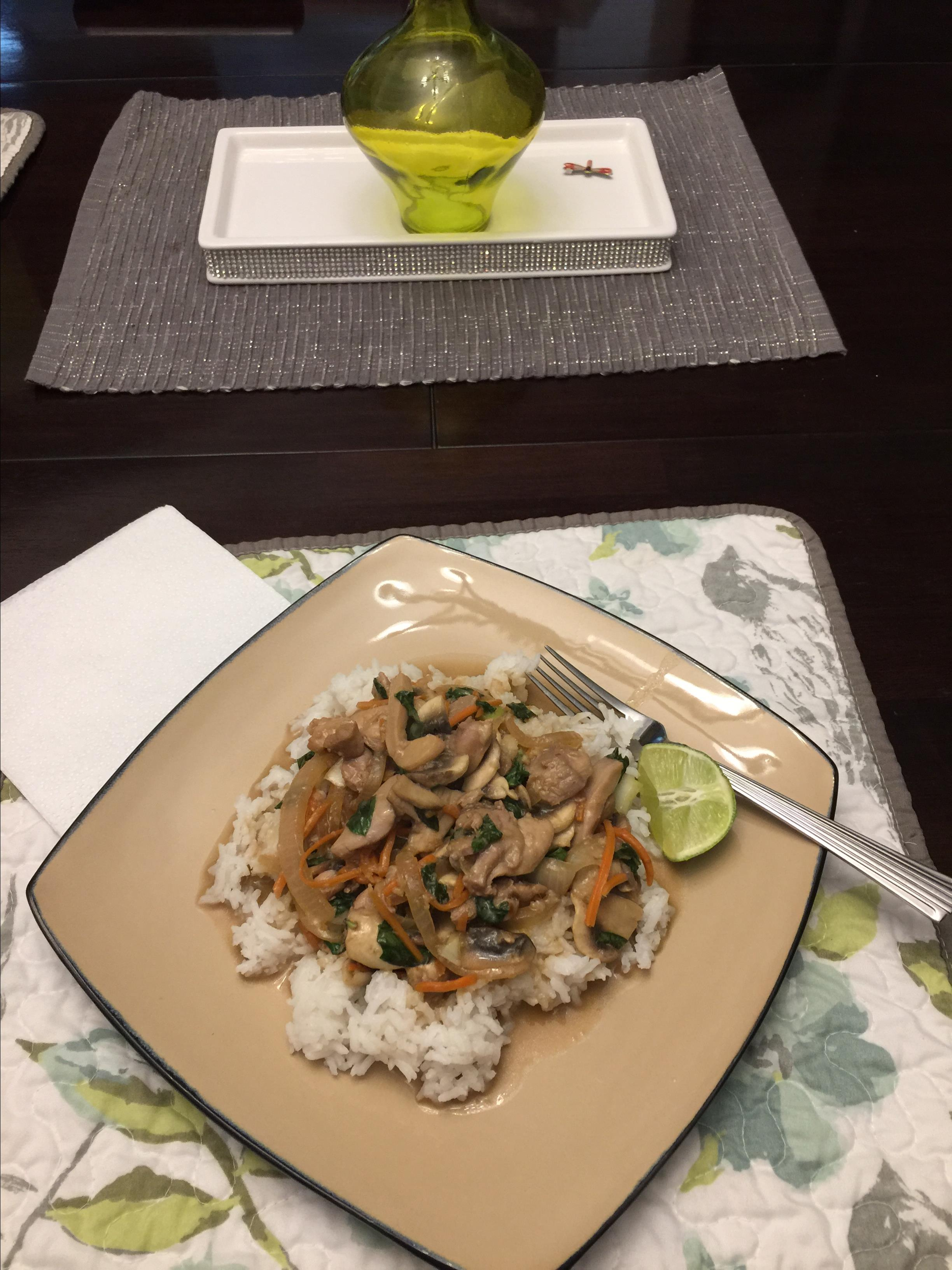 Thai Chicken with Basil Stir Fry terher