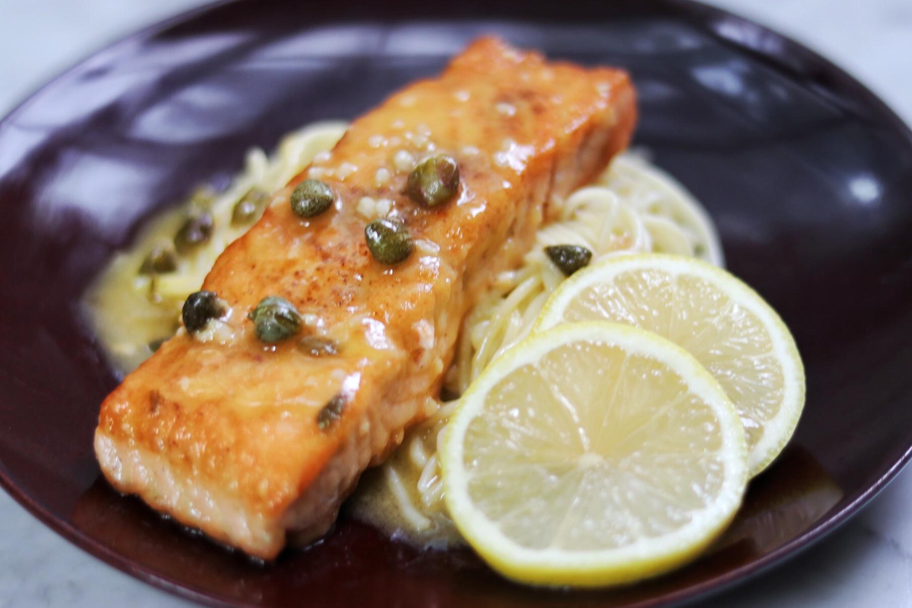 Quick Salmon Piccata