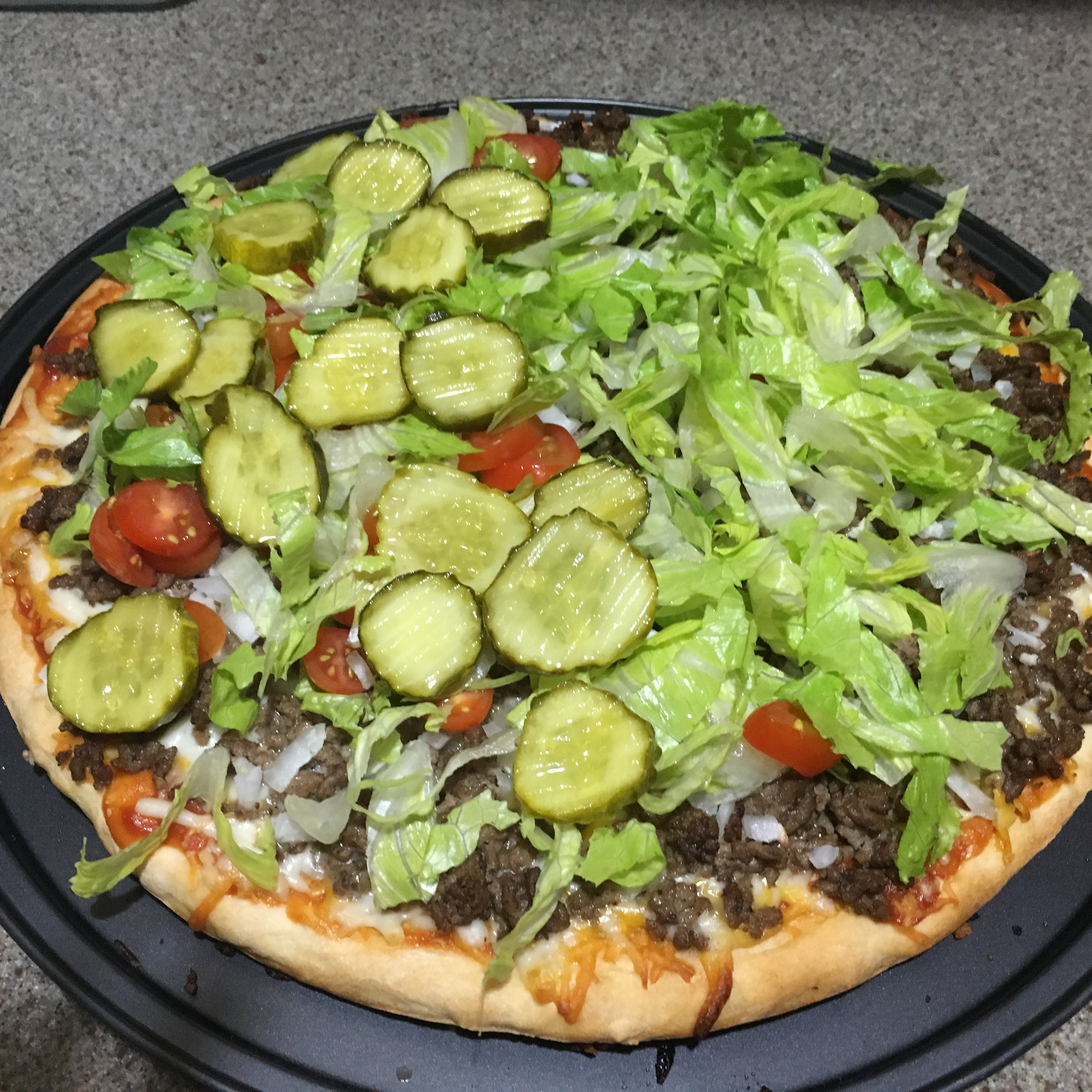 True Cheeseburger Pizza