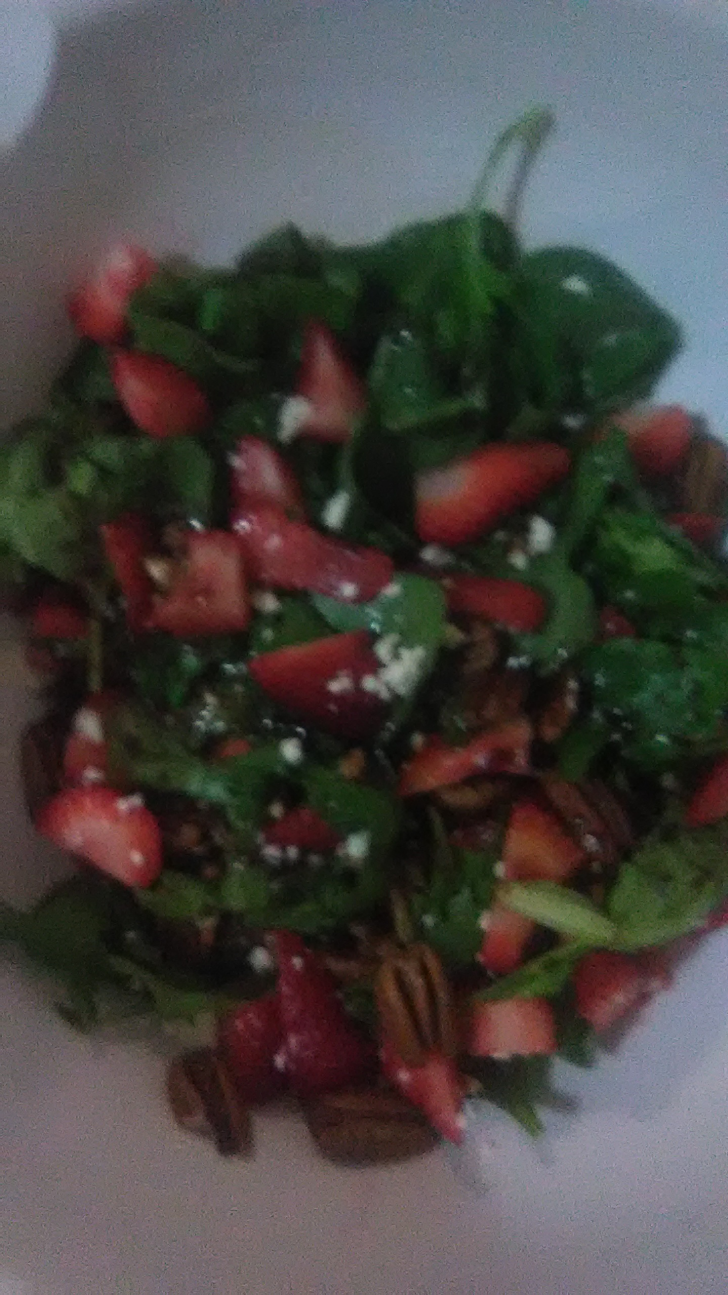 Strawberry and Spinach Salad with Honey Balsamic Vinaigrette Tammantha Shaw