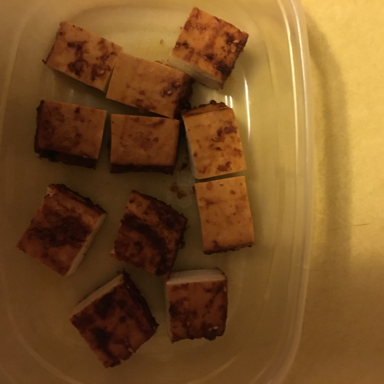 Spicy Baked Tofu Mandy