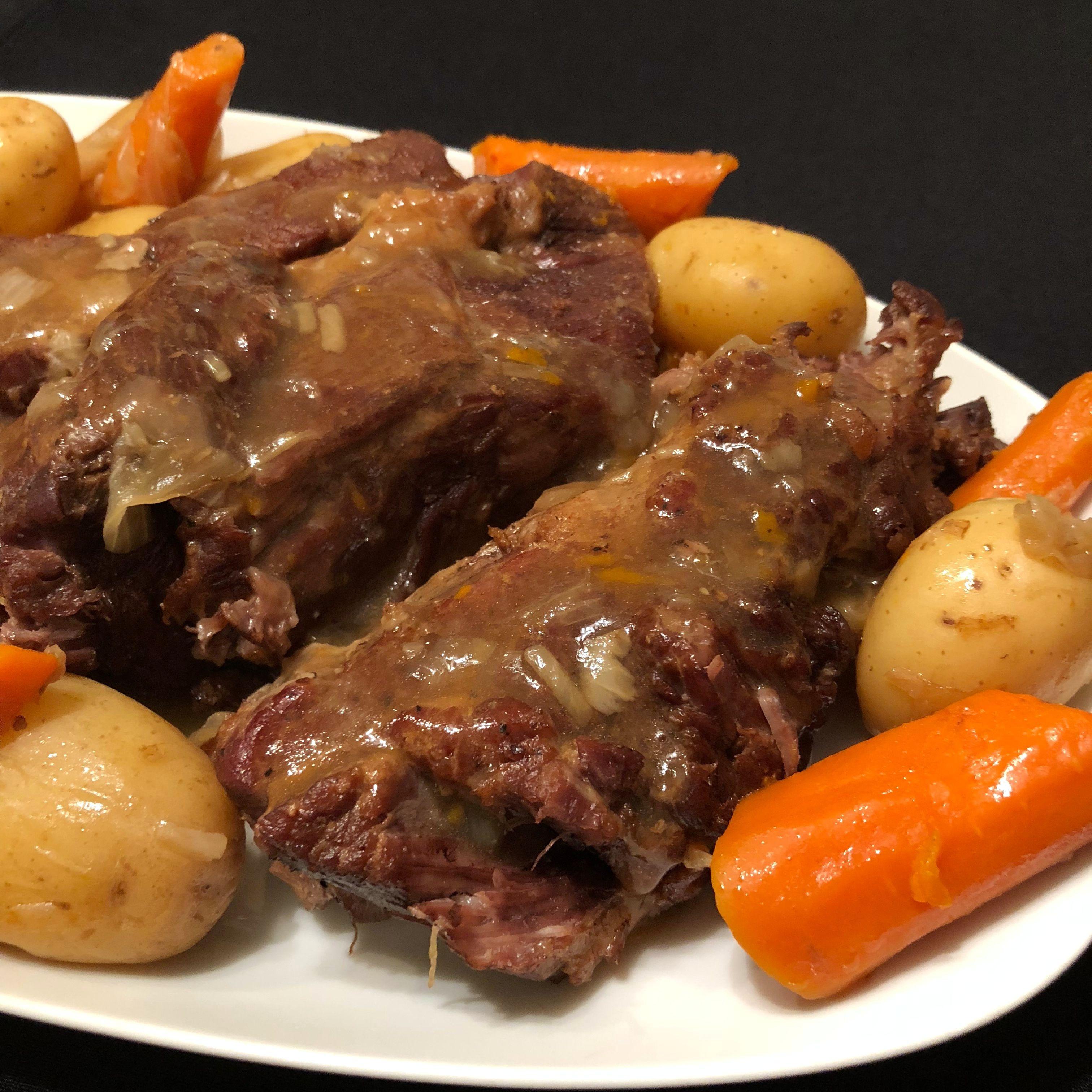 Instant Pot® Pot Roast with Potatoes and Carrots Happyschmoopies