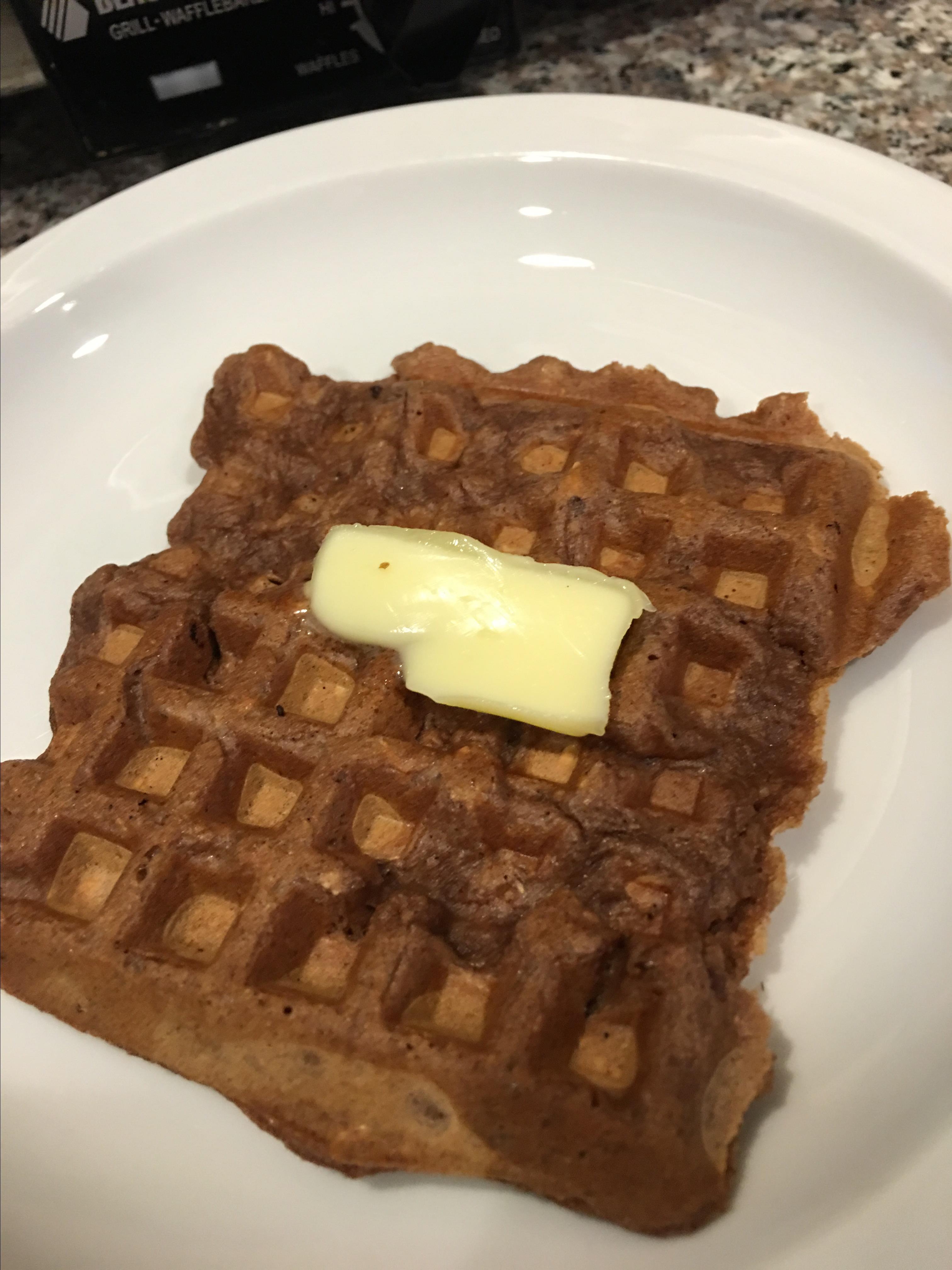 Carlie's Chocolate Oatmeal Waffles
