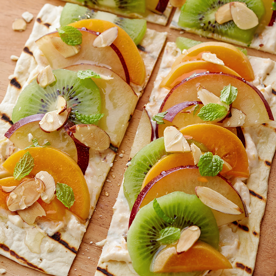 Grilled Apricot Dessert Pizza Diabetic Living Magazine