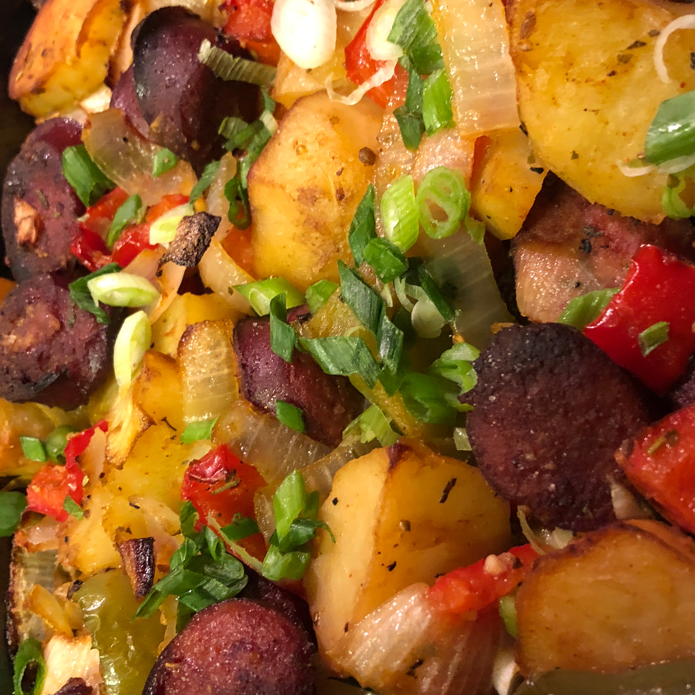 Sausage, Peppers, Onions, and Potato Bake Krystal Hamilton