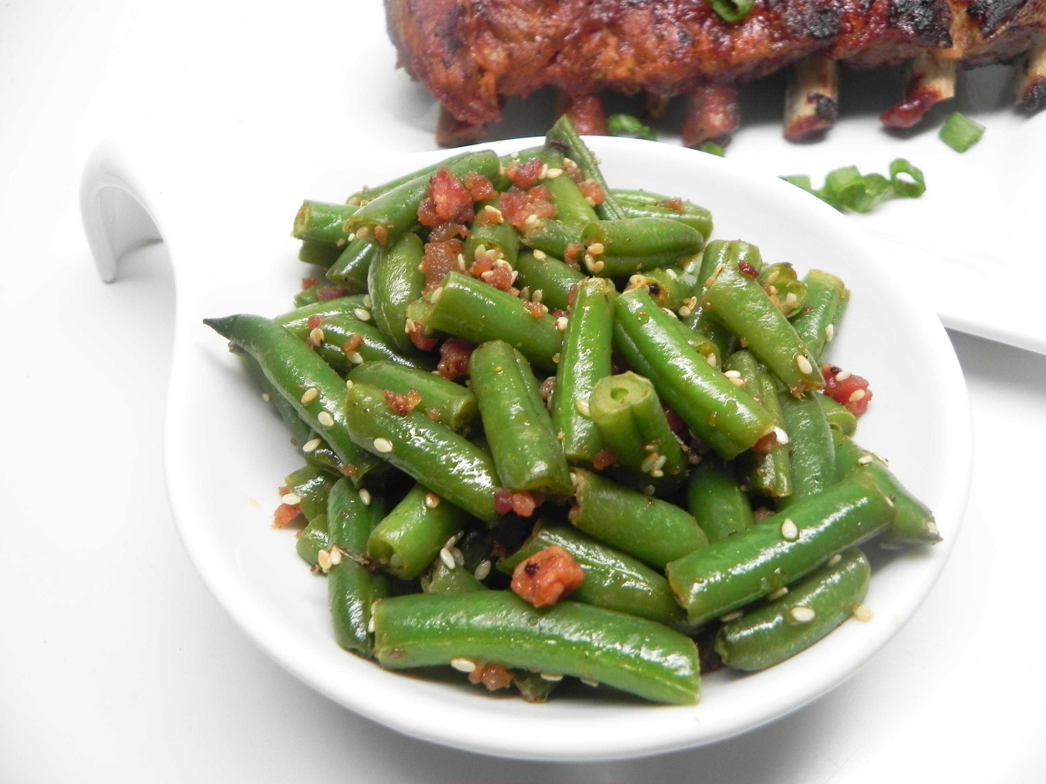 Quick, Smoky Green Beans