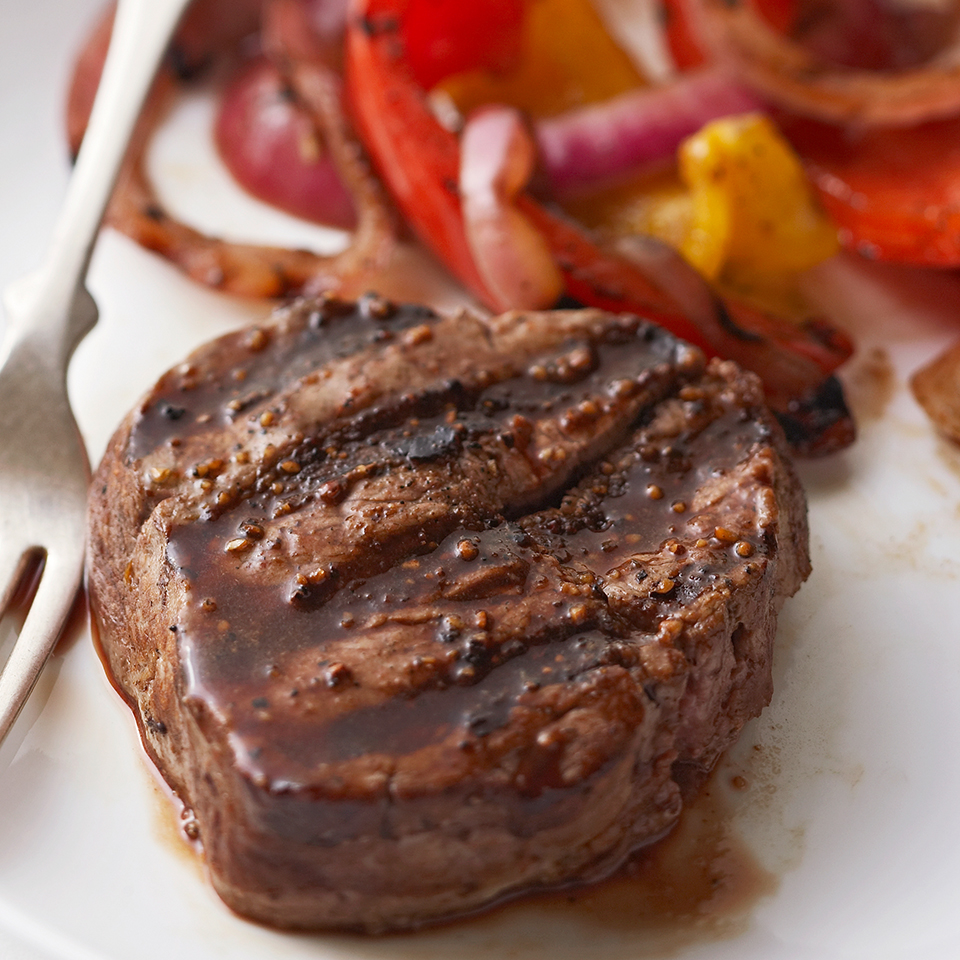 Grilled Steak & Peppers Diabetic Living Magazine