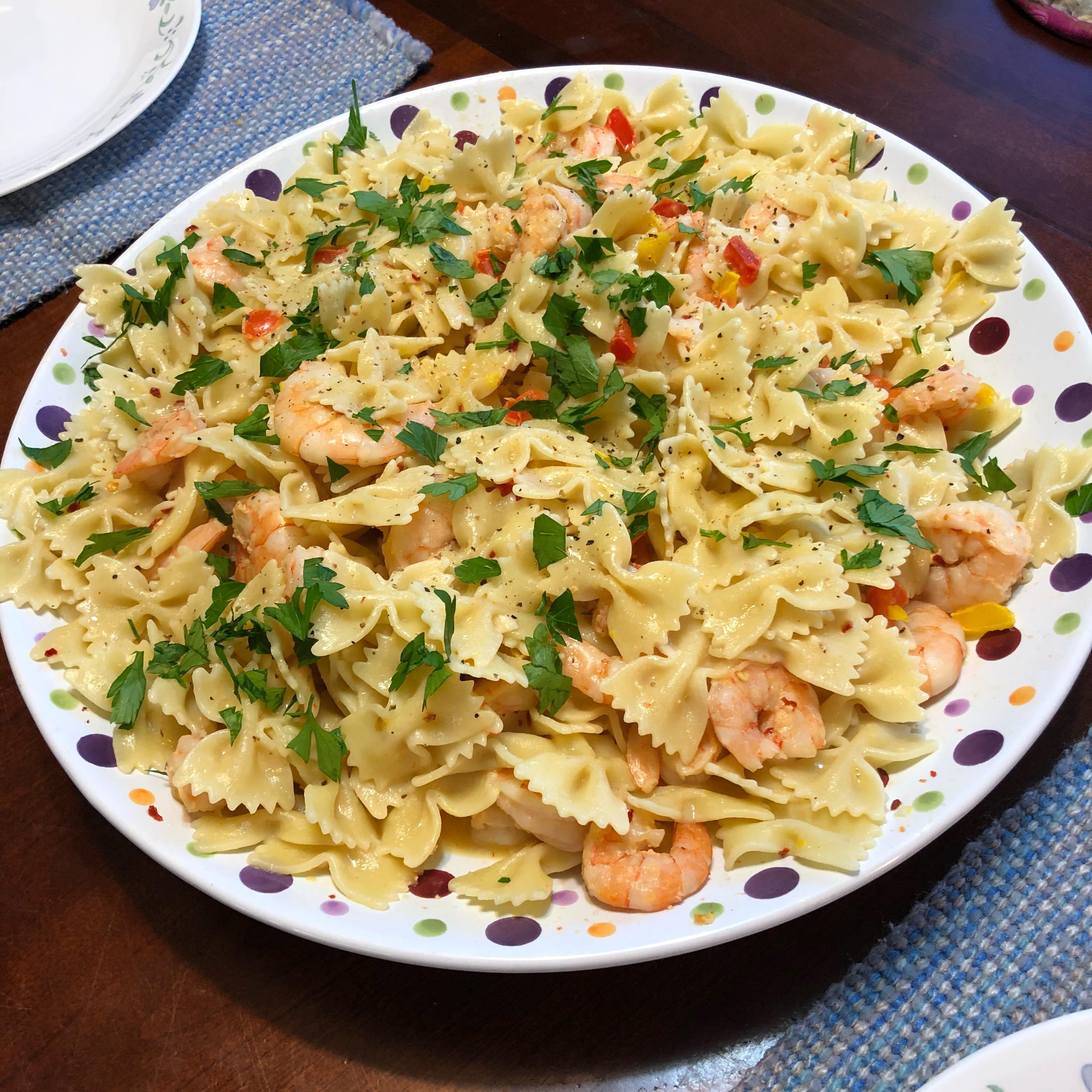 Scrumptious Shrimp Scampi Linguine Paula Dowell